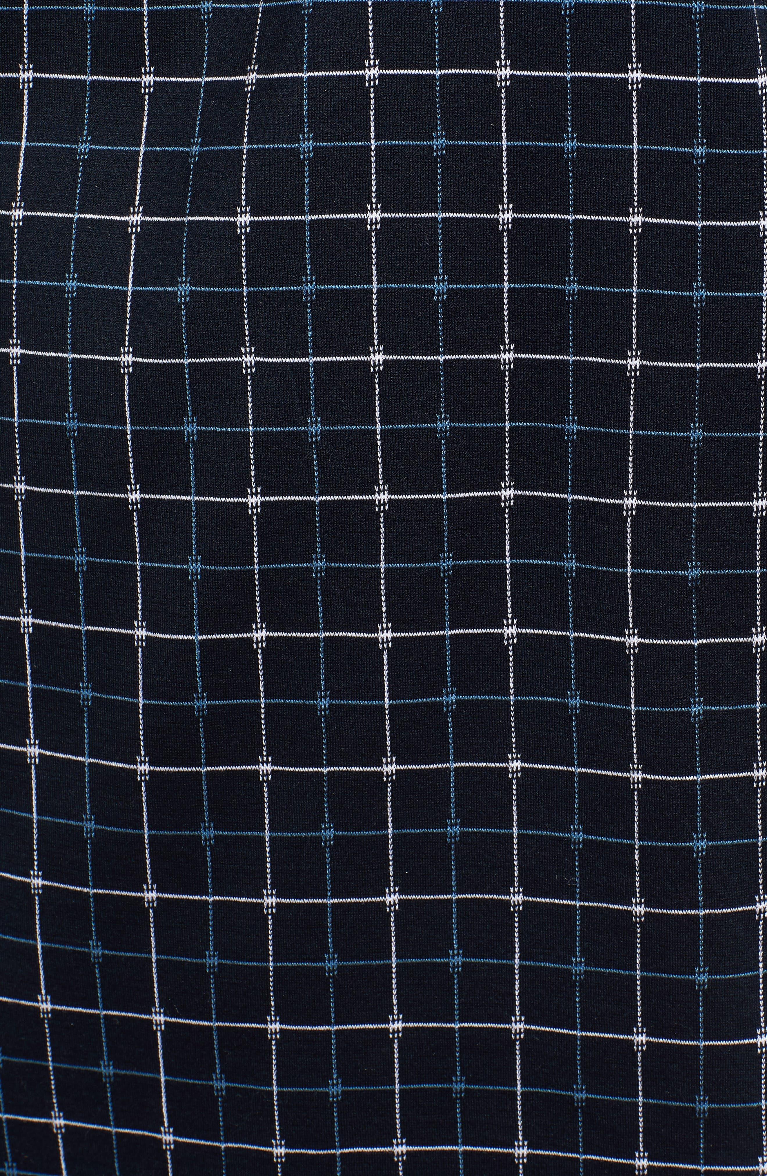 Grid Mercerized Cotton Polo,                             Alternate thumbnail 5, color,                             410