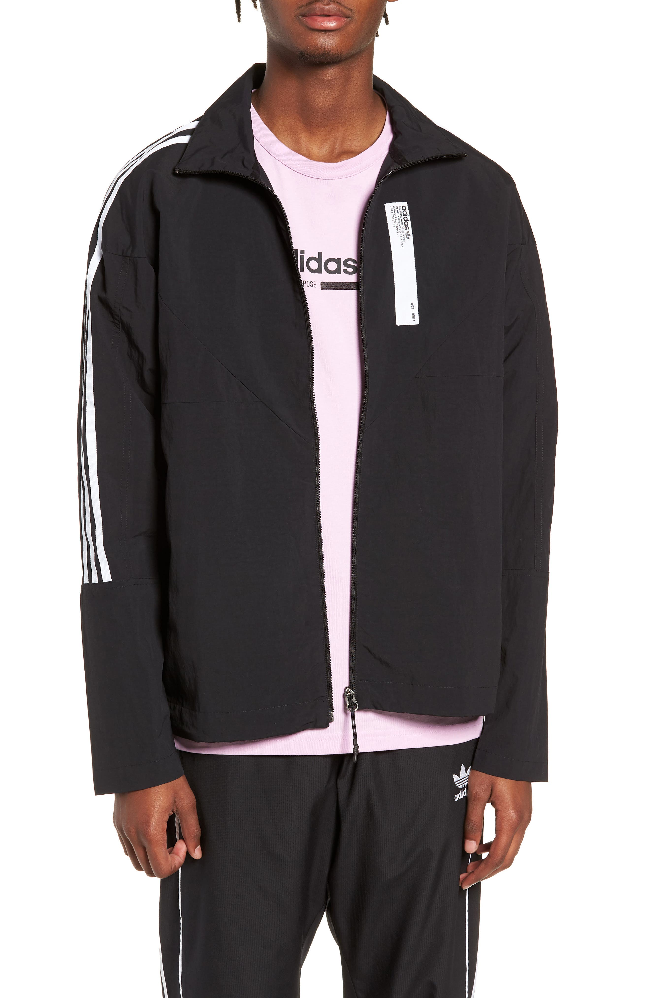 NMD Track Jacket,                         Main,                         color, 001