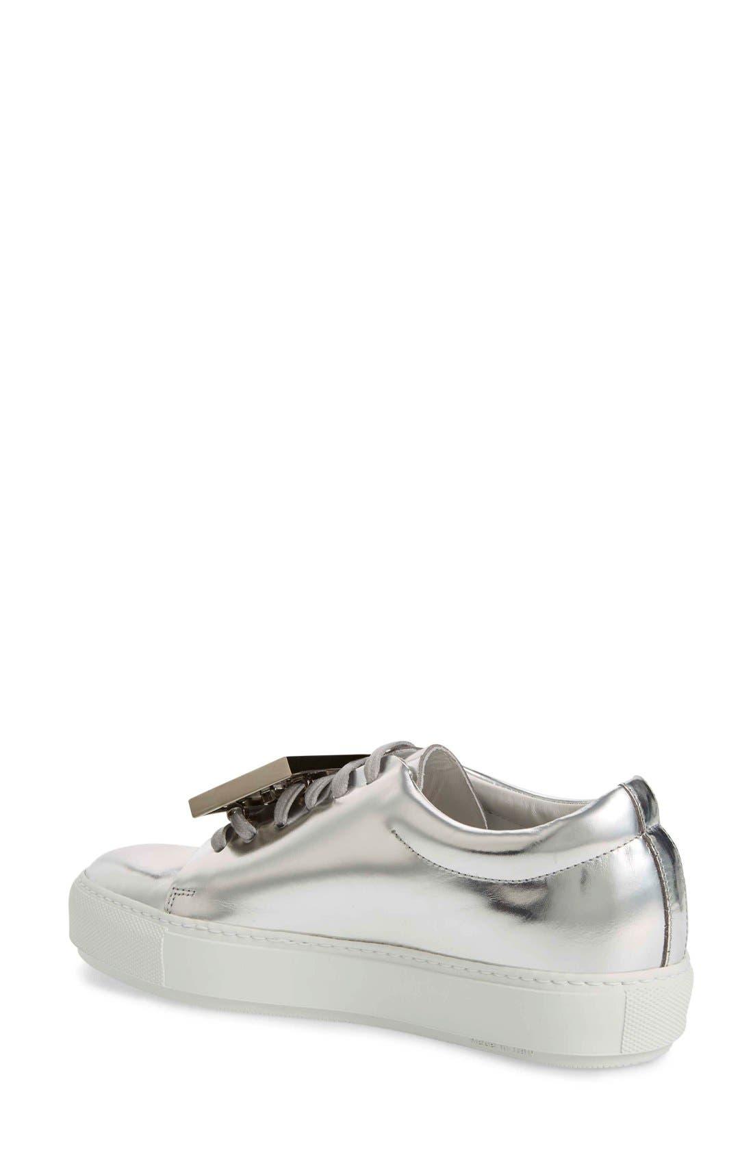 Adriana Silver Metallic Sneaker,                             Alternate thumbnail 2, color,                             044