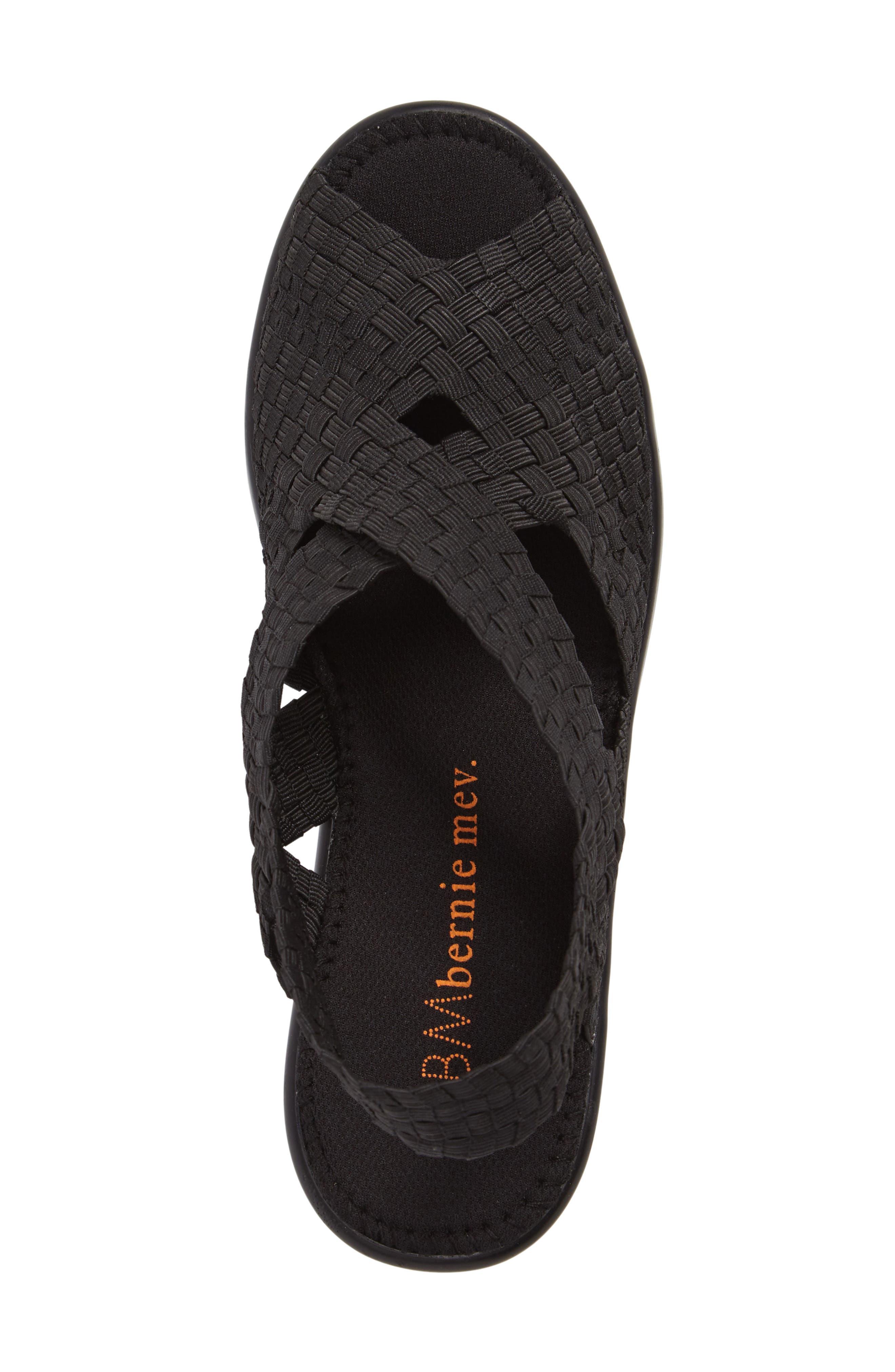Fresh Brighten Sandal,                             Alternate thumbnail 5, color,                             BLACK FABRIC