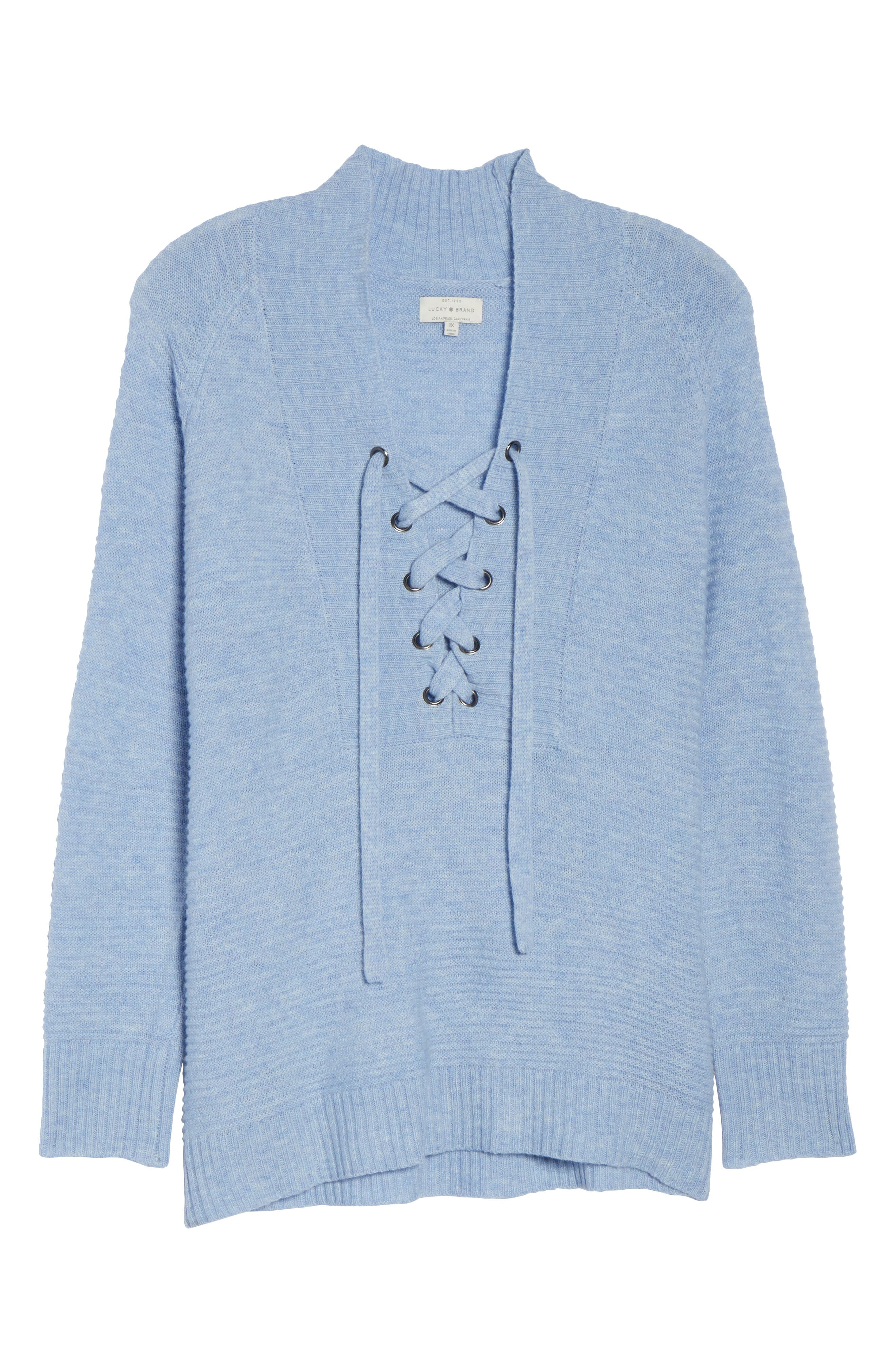 Lace-Up Sweater,                             Alternate thumbnail 12, color,