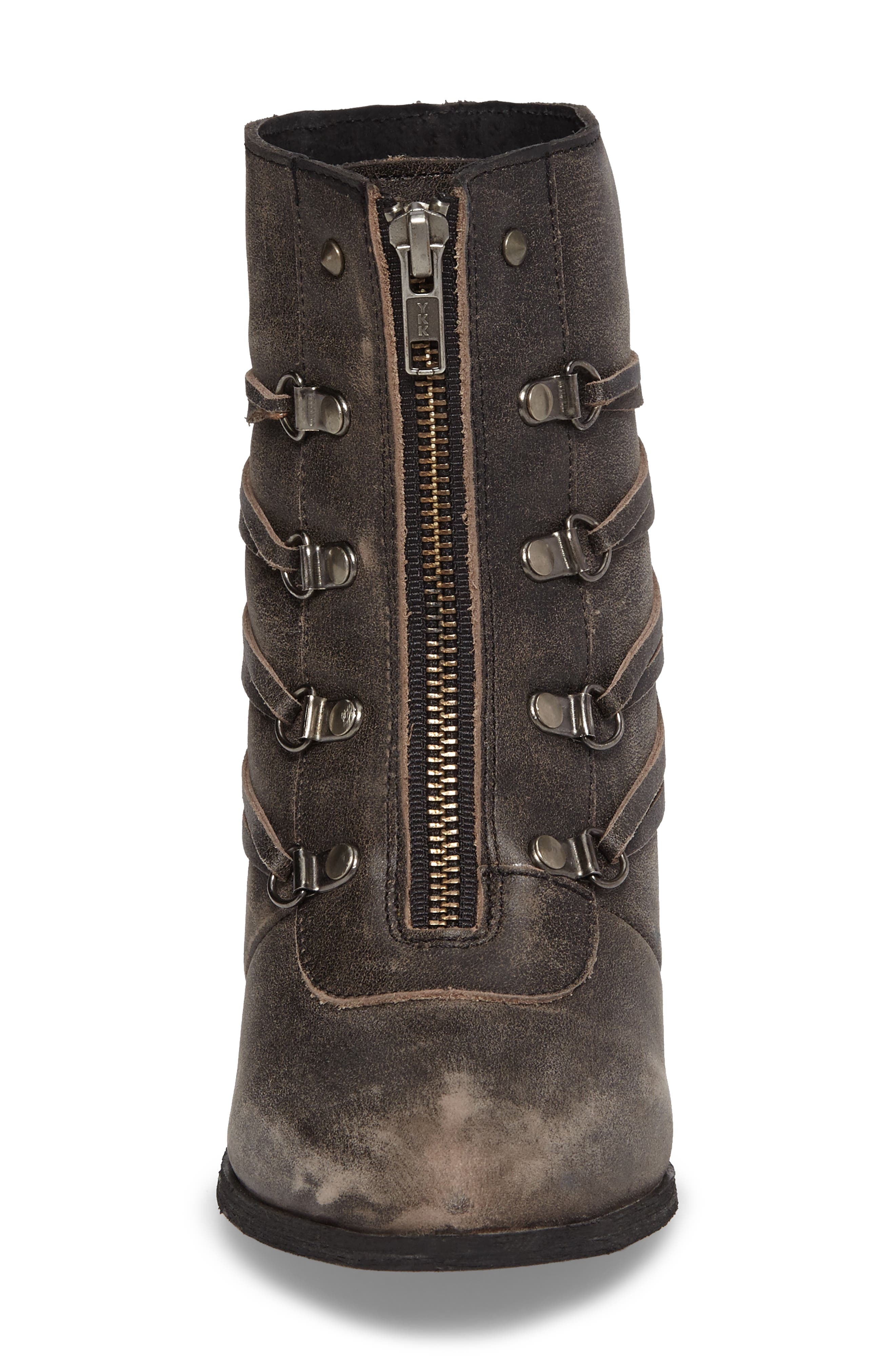 Peacekeeper Lace-Up Bootie,                             Alternate thumbnail 4, color,                             001