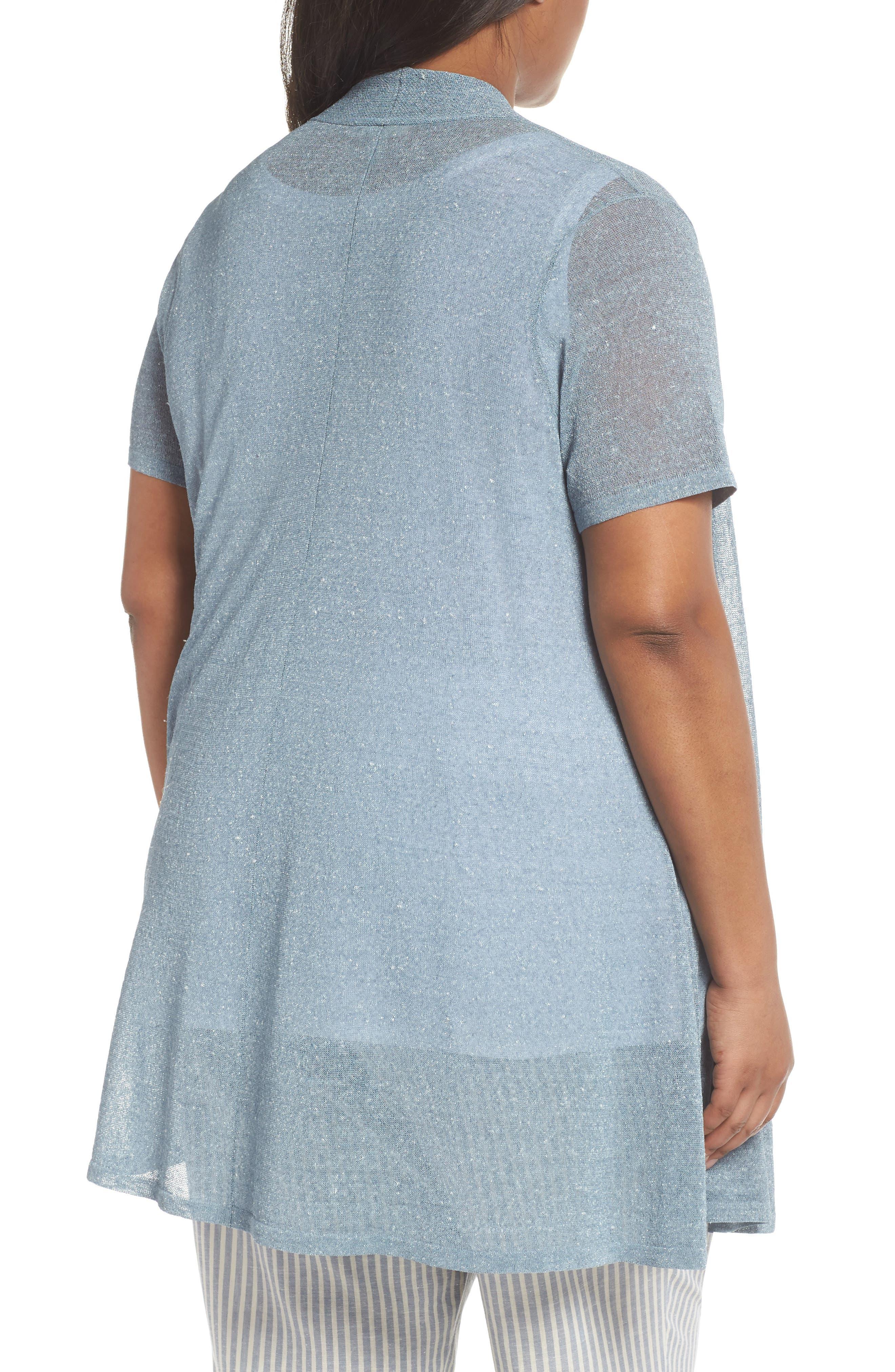 Long Organic Linen Blend Cardigan,                             Alternate thumbnail 2, color,                             454