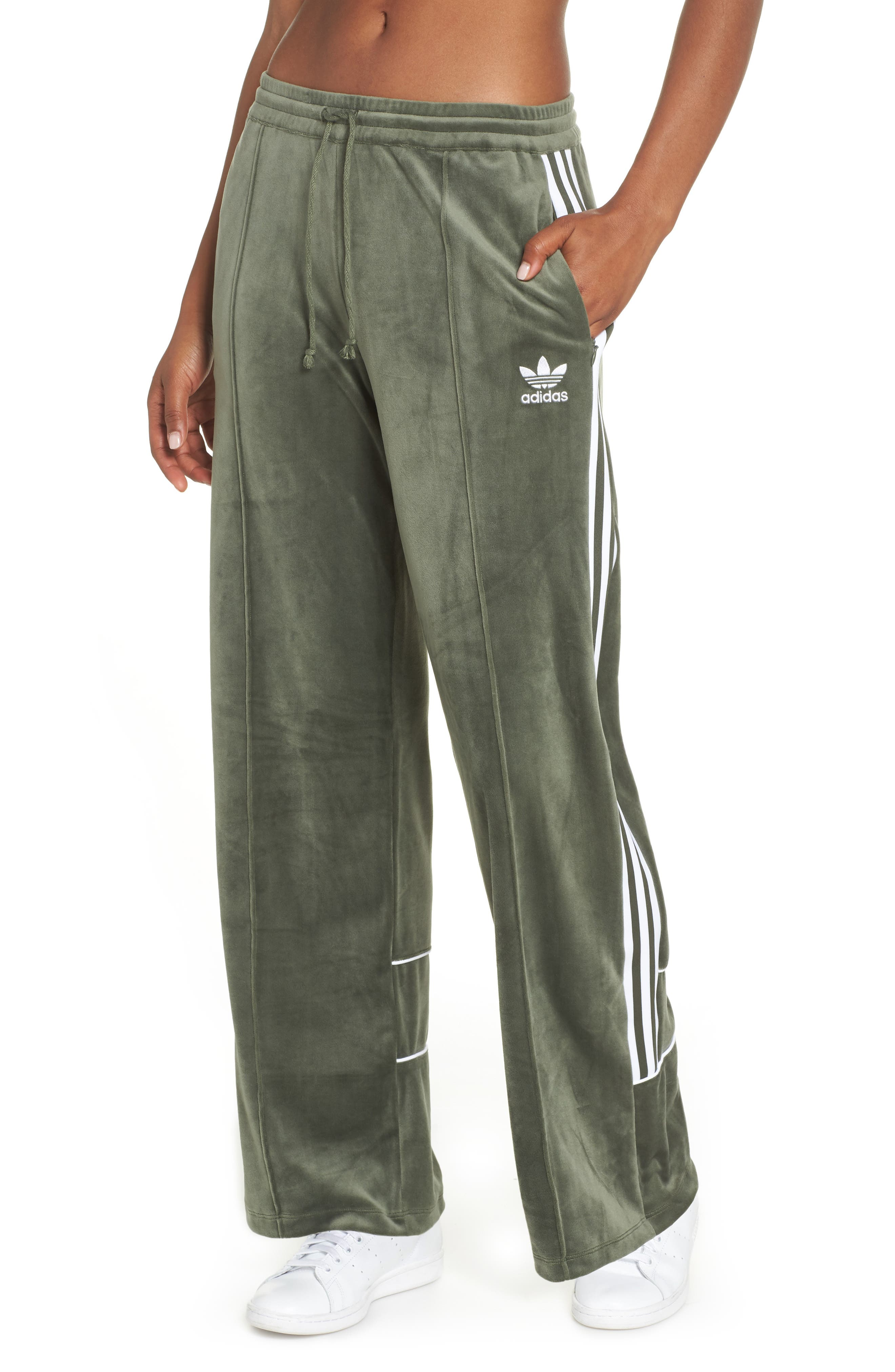 Originals Velvet Track Pants, Main, color, 300