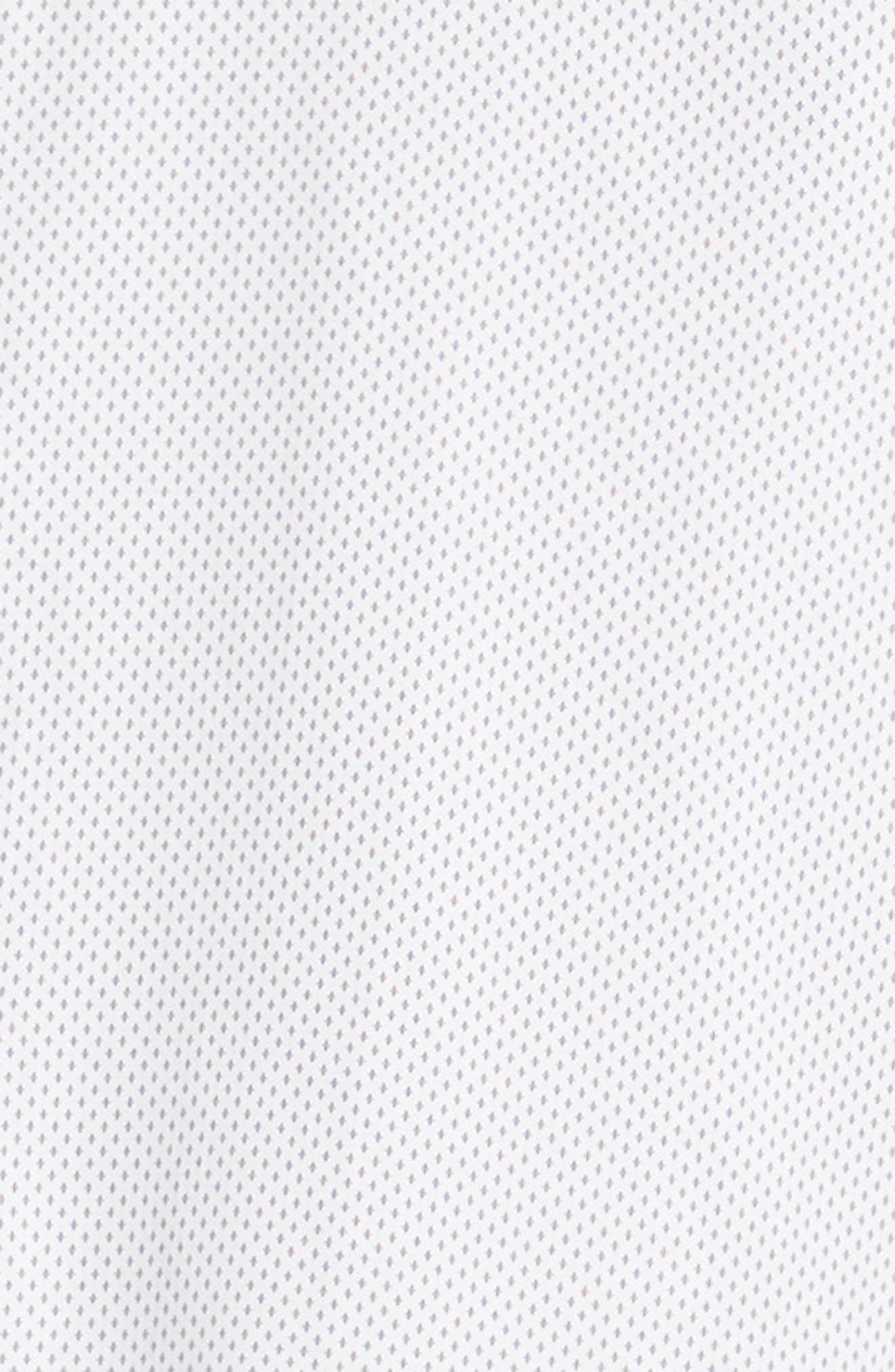 Boomtown Geo Print Sport Shirt,                             Alternate thumbnail 6, color,                             WHITE