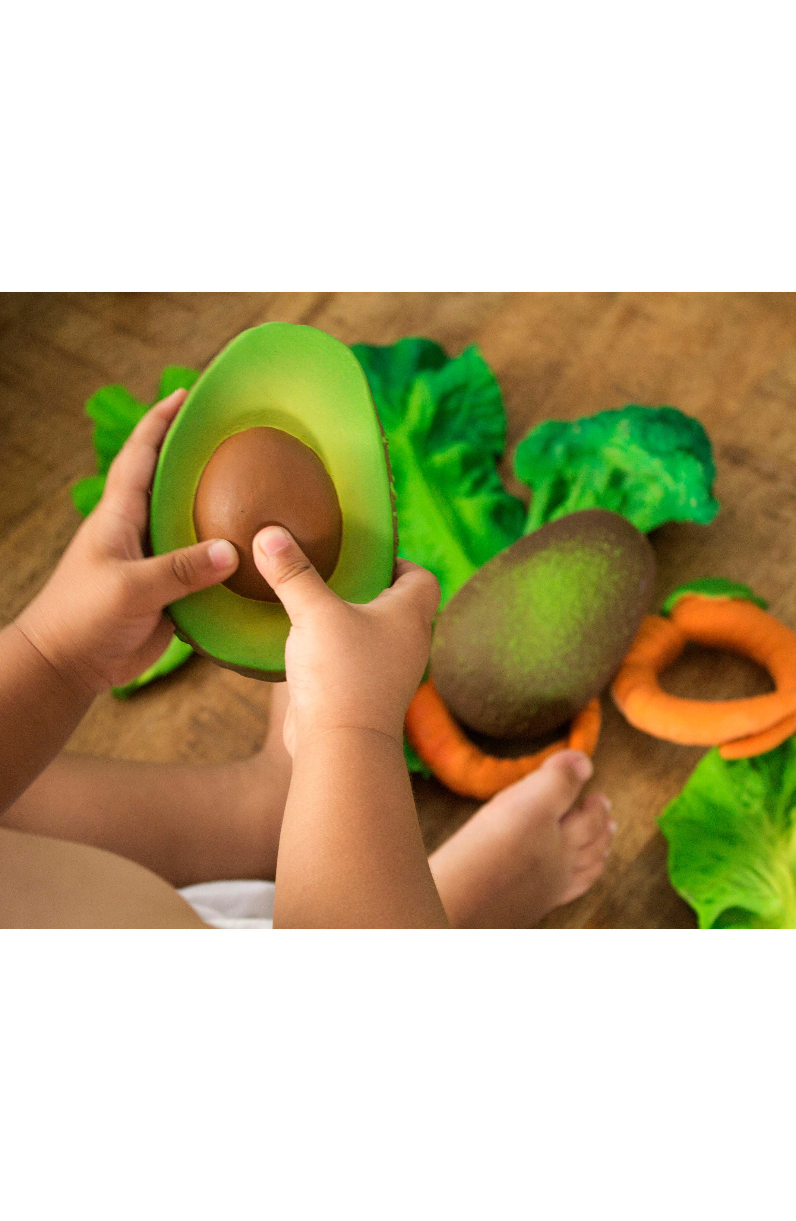 Oli and Carol Arnold the Avocado Teething Toy,                             Alternate thumbnail 6, color,                             GREEN
