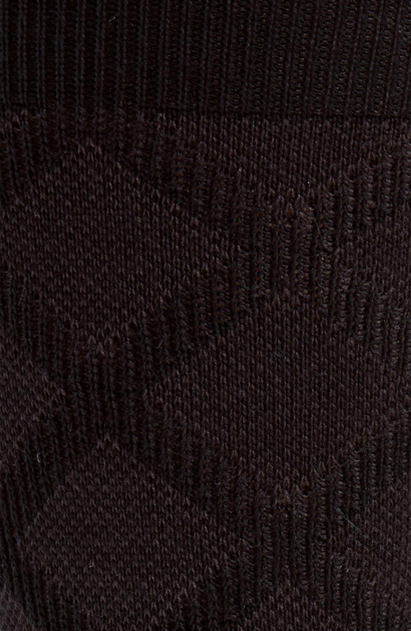 Diamond Grid Socks,                             Alternate thumbnail 2, color,                             BLACK