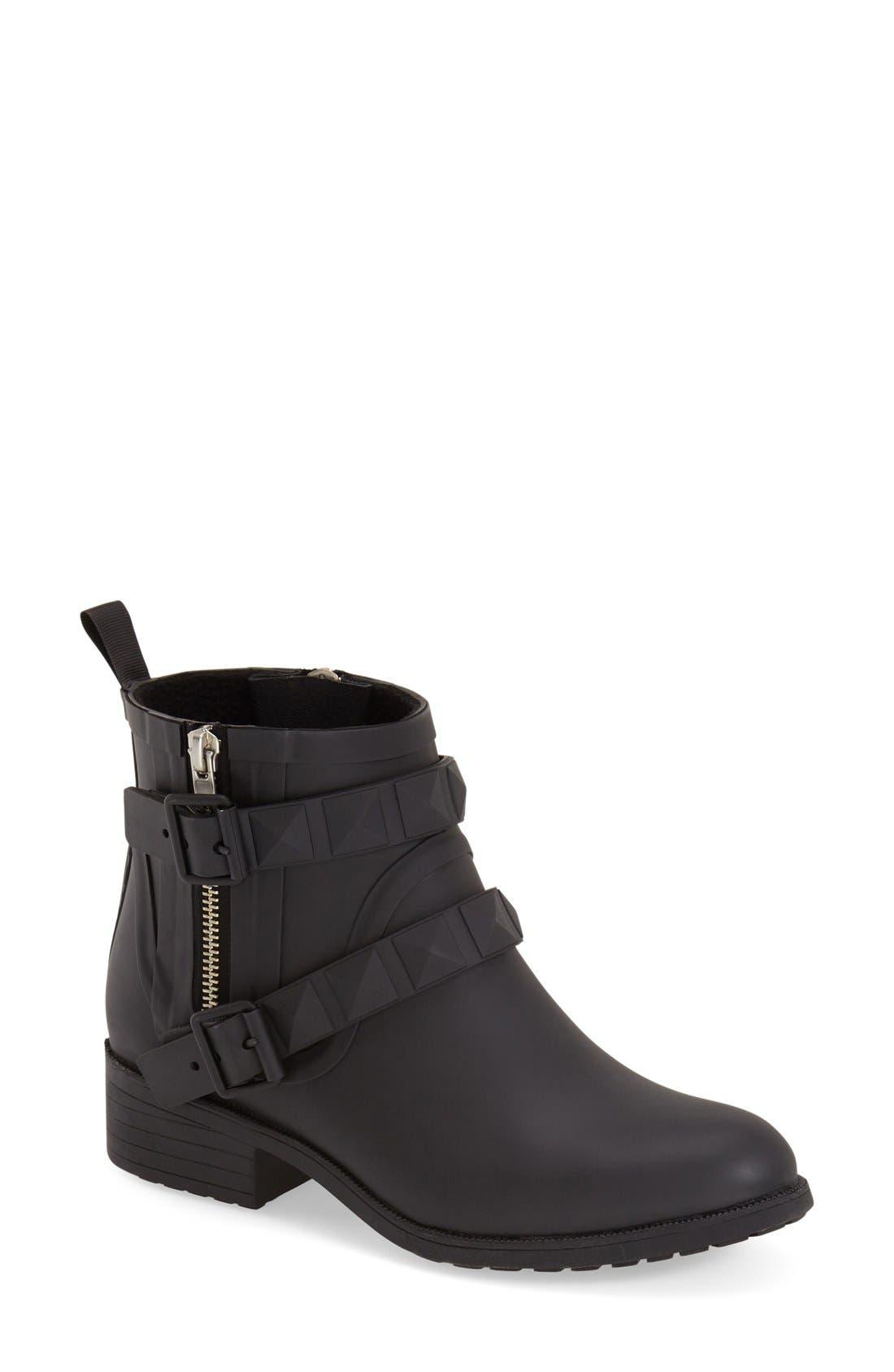 'Quincy' Waterproof Rain Boot,                         Main,                         color, 001