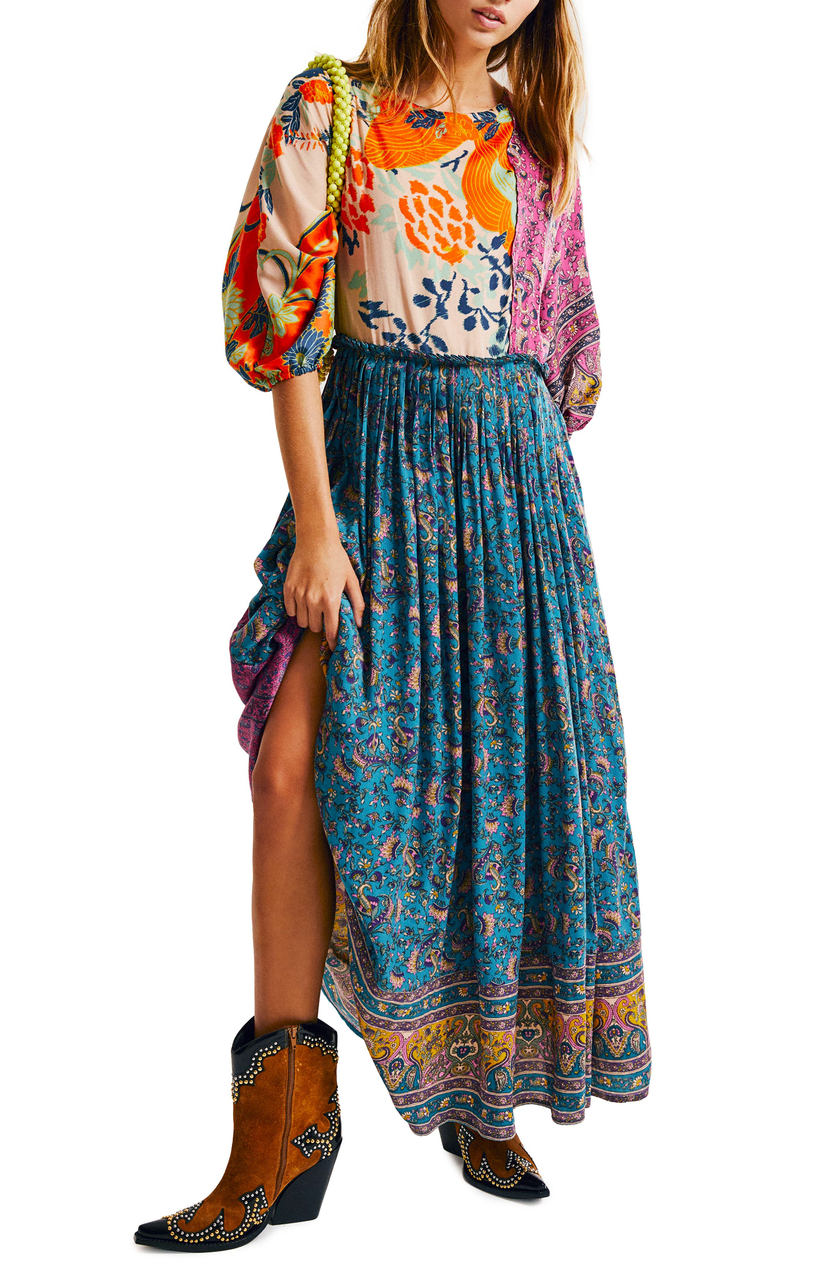 FREE PEOPLE What You Want Maxi Dress, Main, color, MULTI