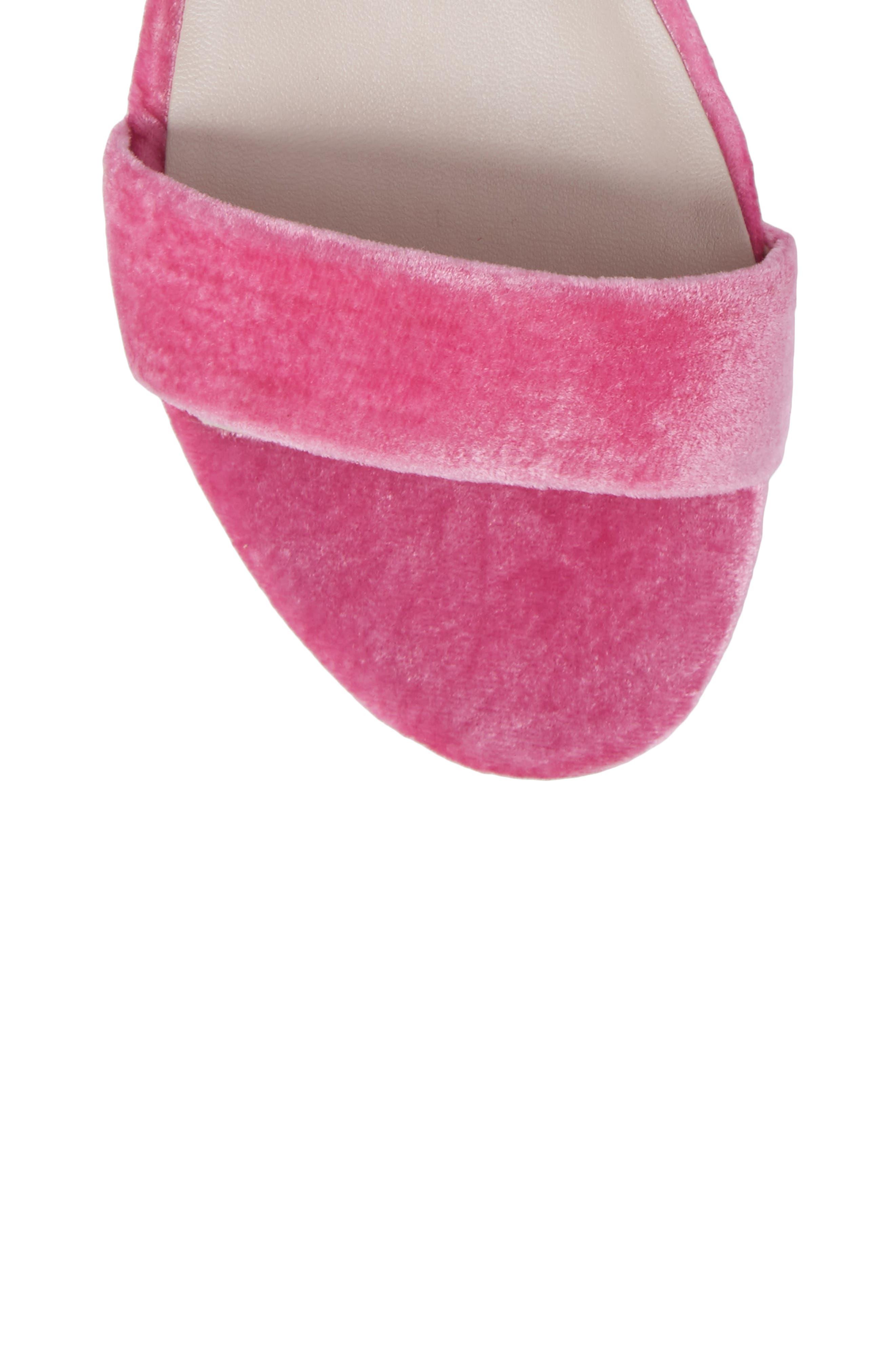 Valen Tassel Lace-Up Sandal,                             Alternate thumbnail 5, color,                             FUCHSIA VELVET
