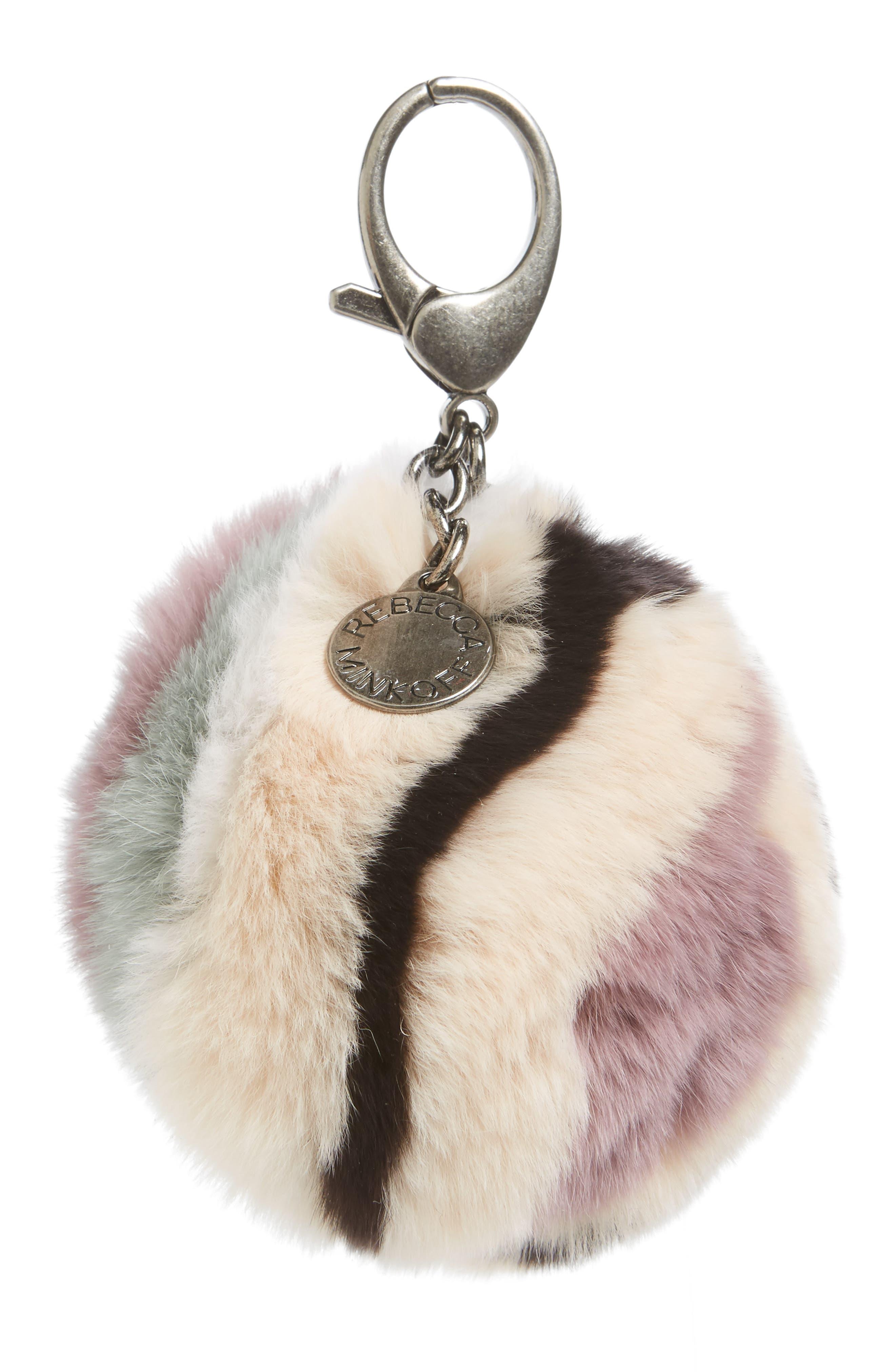 Genuine Fox Fur Bag Charm,                         Main,                         color, 279