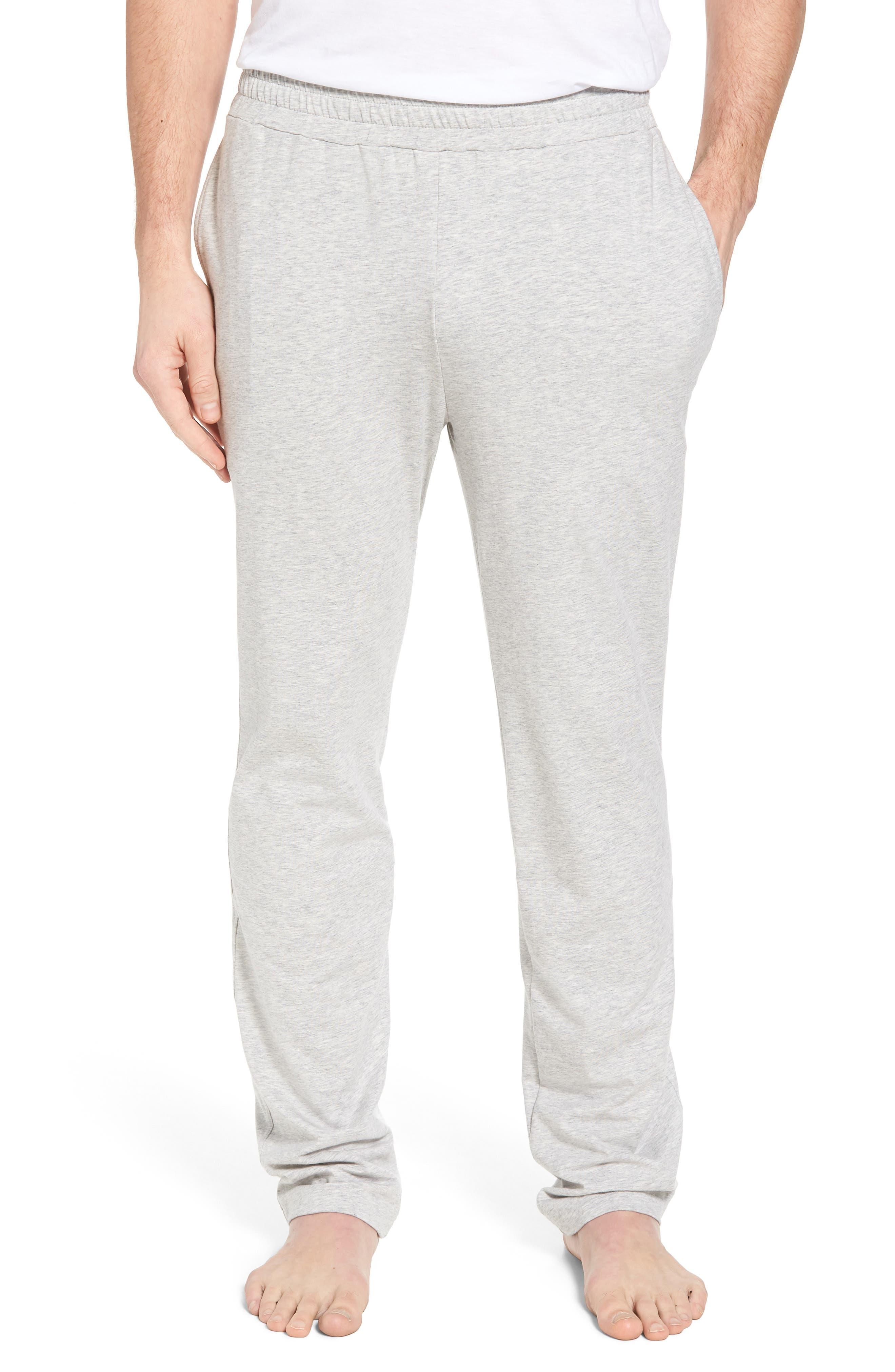 Classic Liquid Cotton Stretch Pants,                         Main,                         color, HEATHER GREY