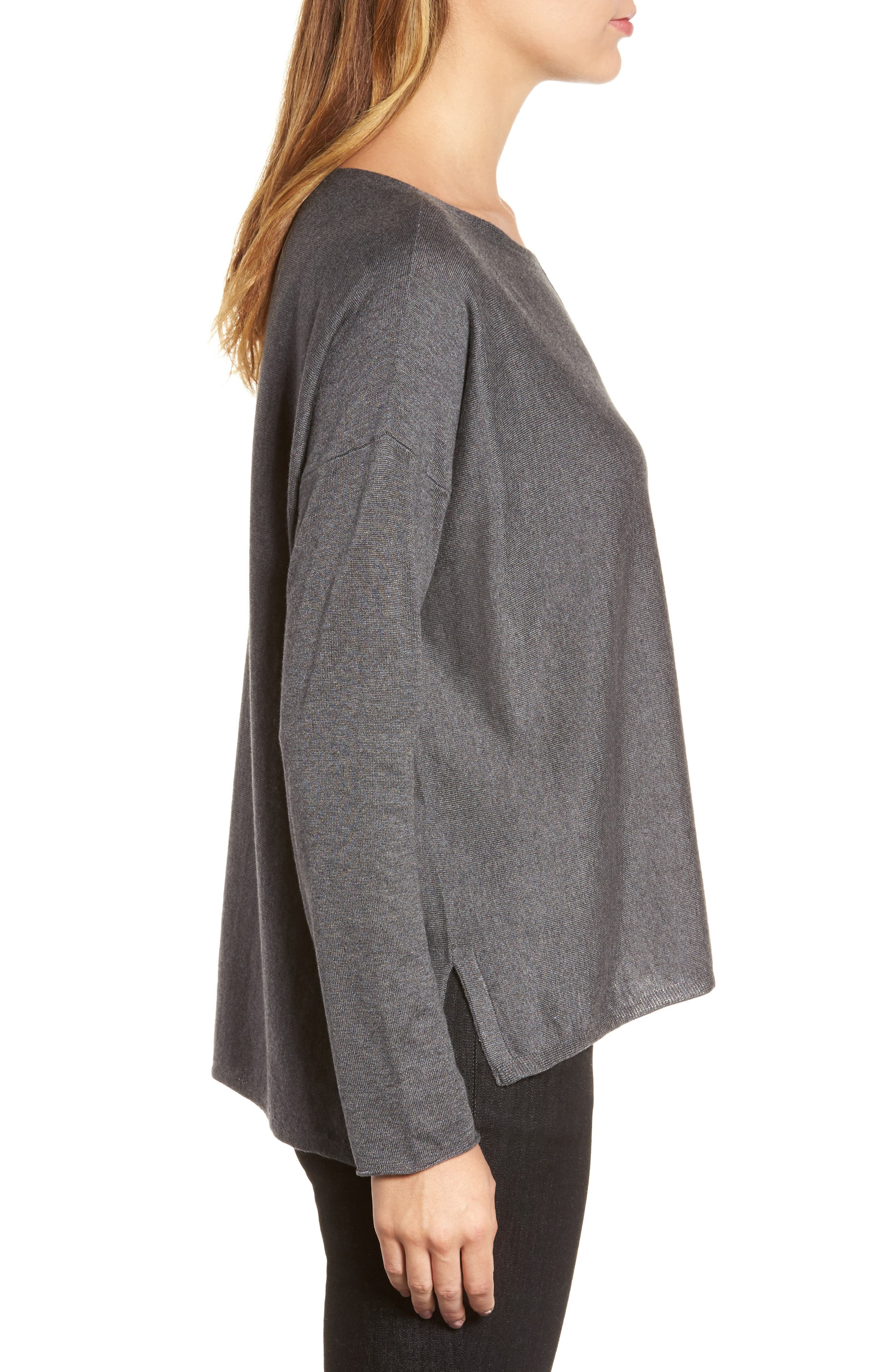 Tencel<sup>®</sup> Lyocell Blend High/Low Sweater,                             Alternate thumbnail 14, color,