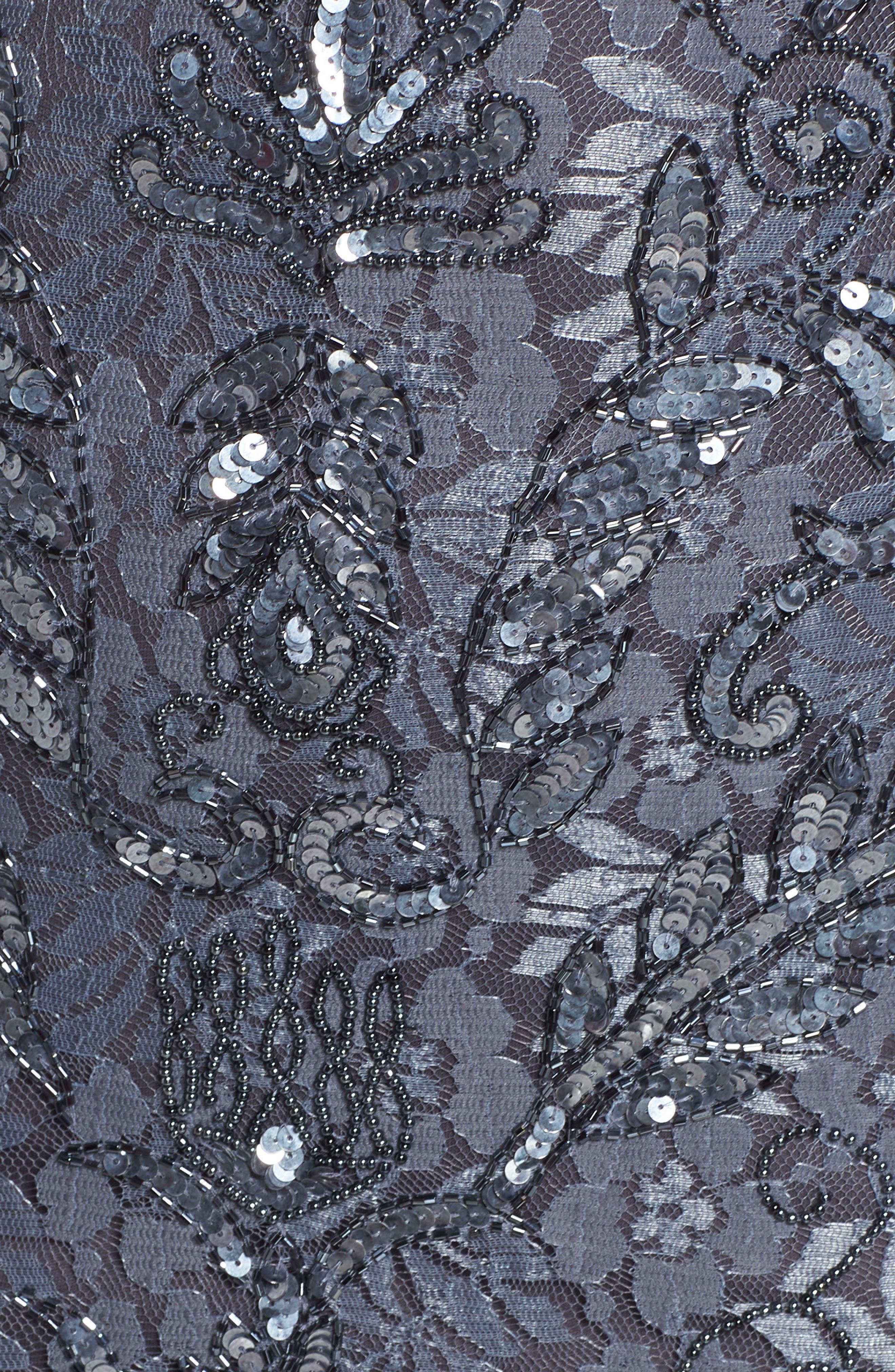 Sequin Lace Sheath Dress,                             Alternate thumbnail 6, color,                             020