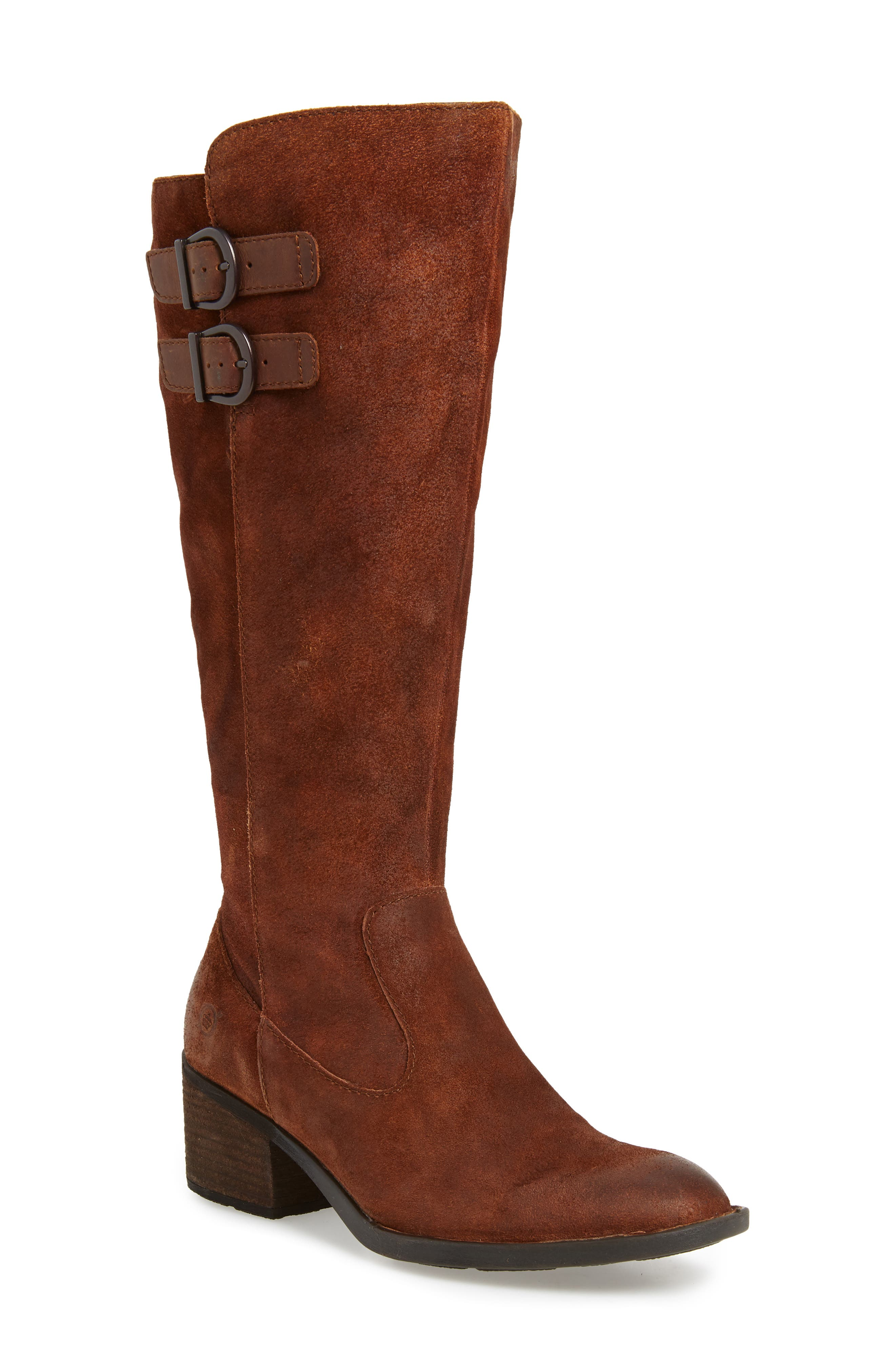 B?rn Basil Knee High Boot, Wide Calf- Brown