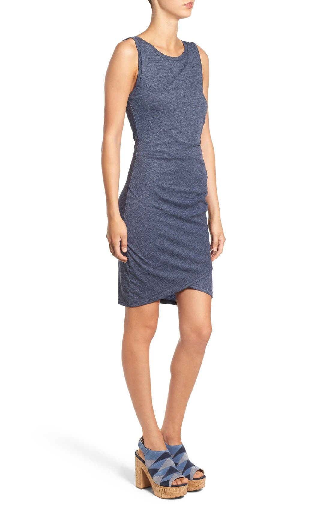 Ruched Body-Con Tank Dress,                             Alternate thumbnail 207, color,