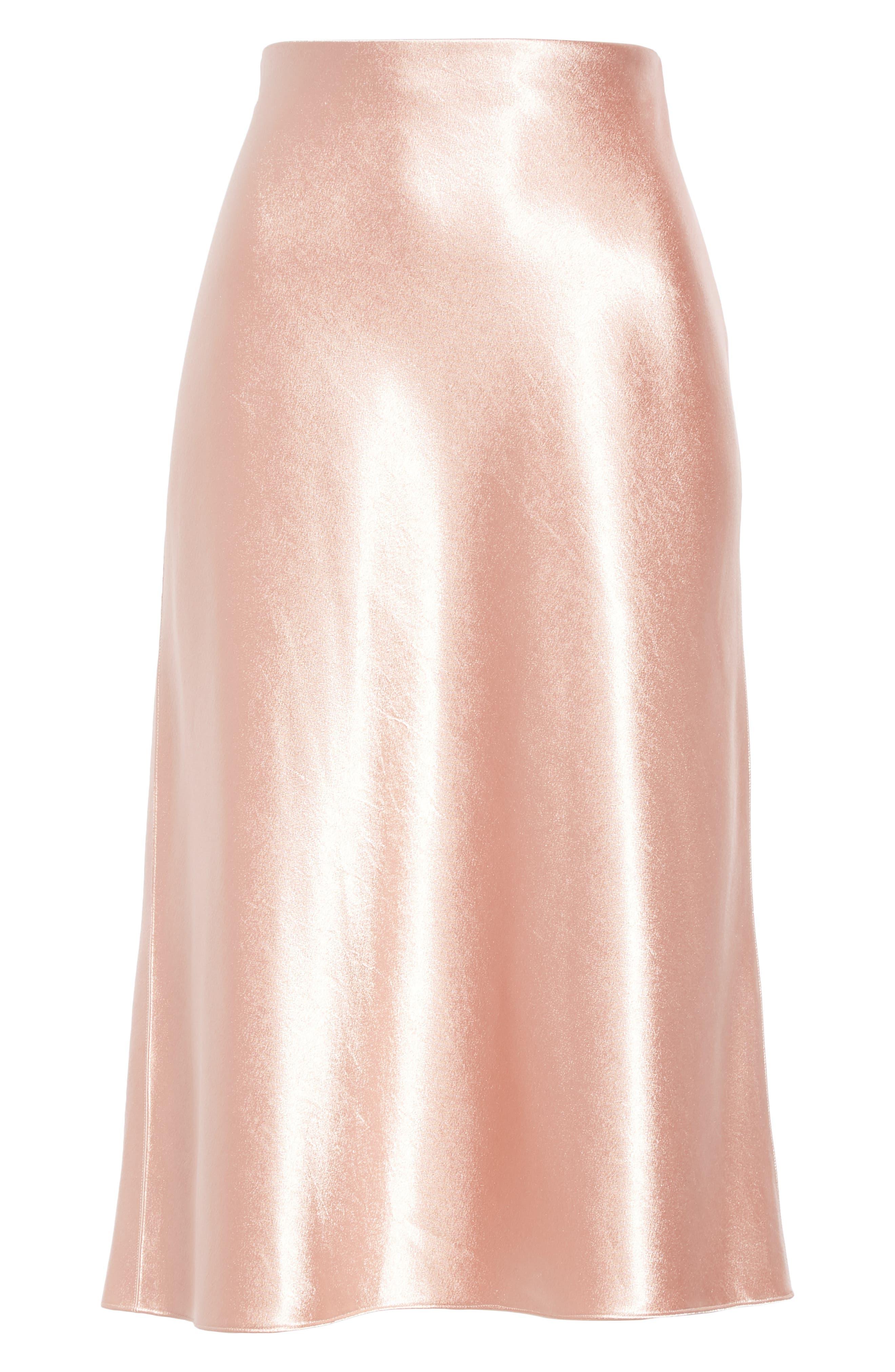 Satin Slip Skirt,                             Alternate thumbnail 6, color,                             BLUSH