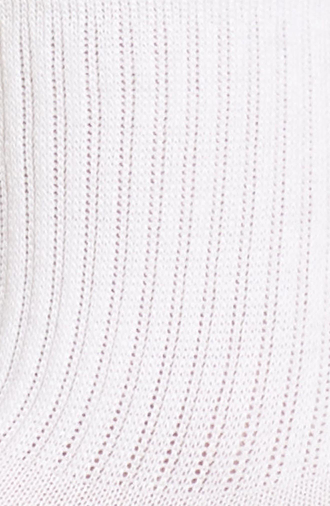 Quarter Crew Socks,                             Alternate thumbnail 2, color,                             WHITE/ ROSE GOLD