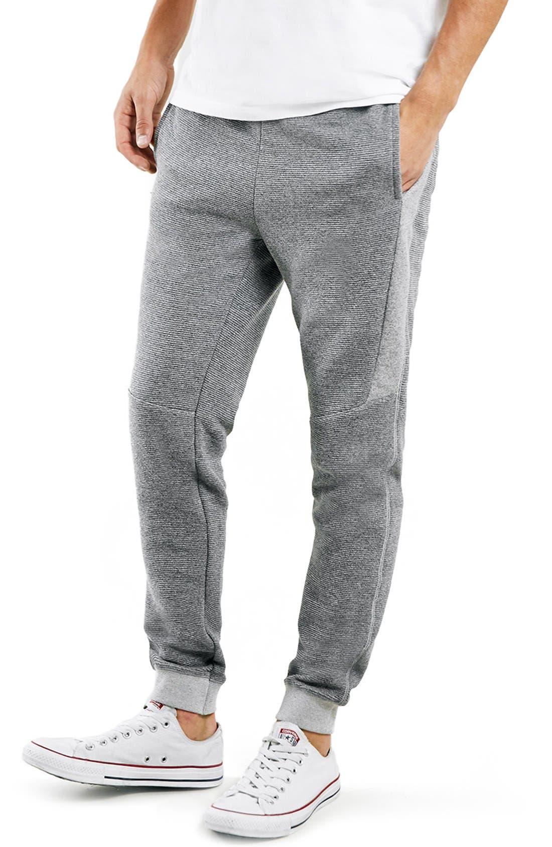 Ribbed Jogger Sweatpants, Main, color, 020