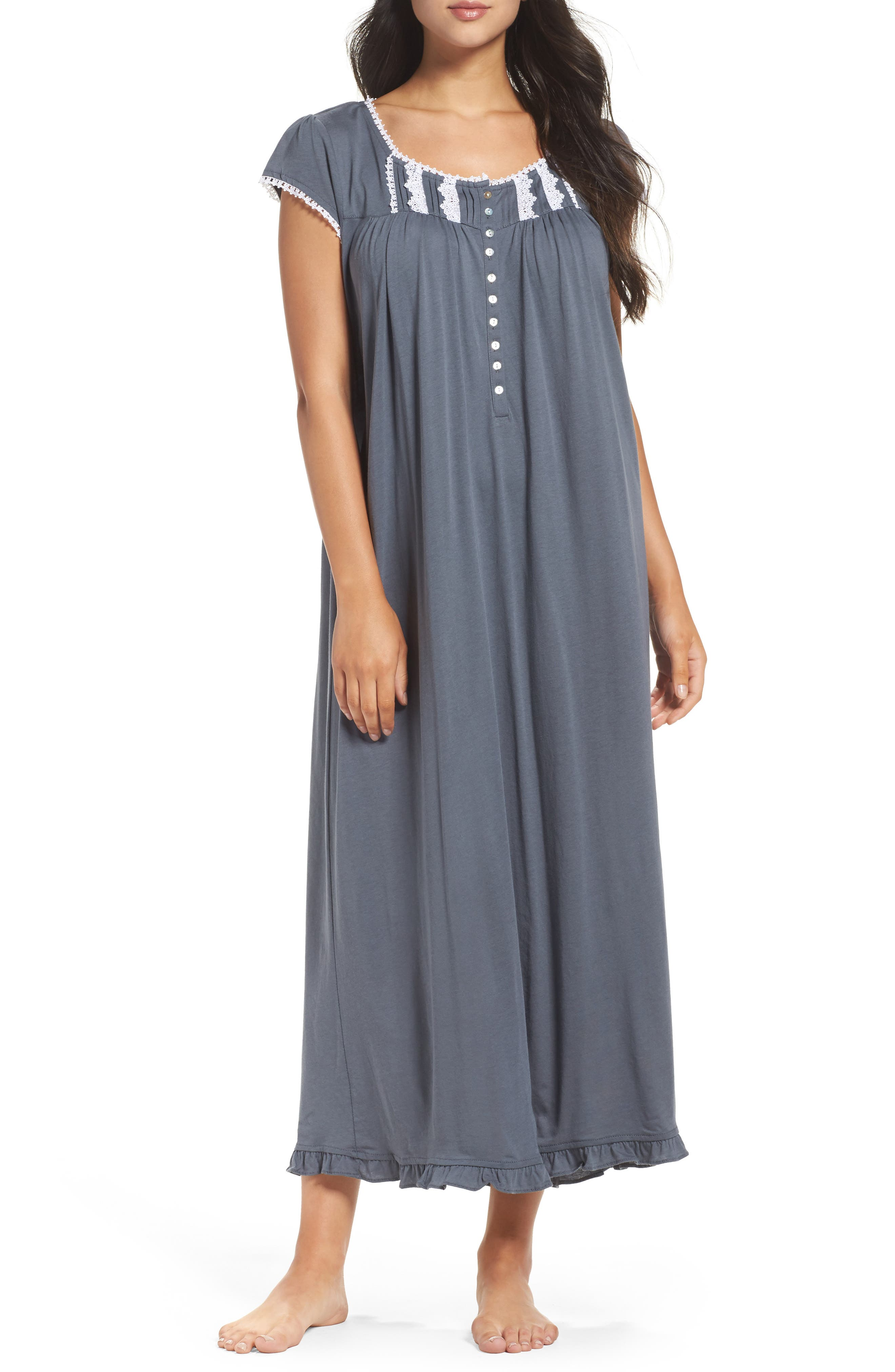 Cotton & Modal Ballet Nightgown,                             Main thumbnail 1, color,                             001