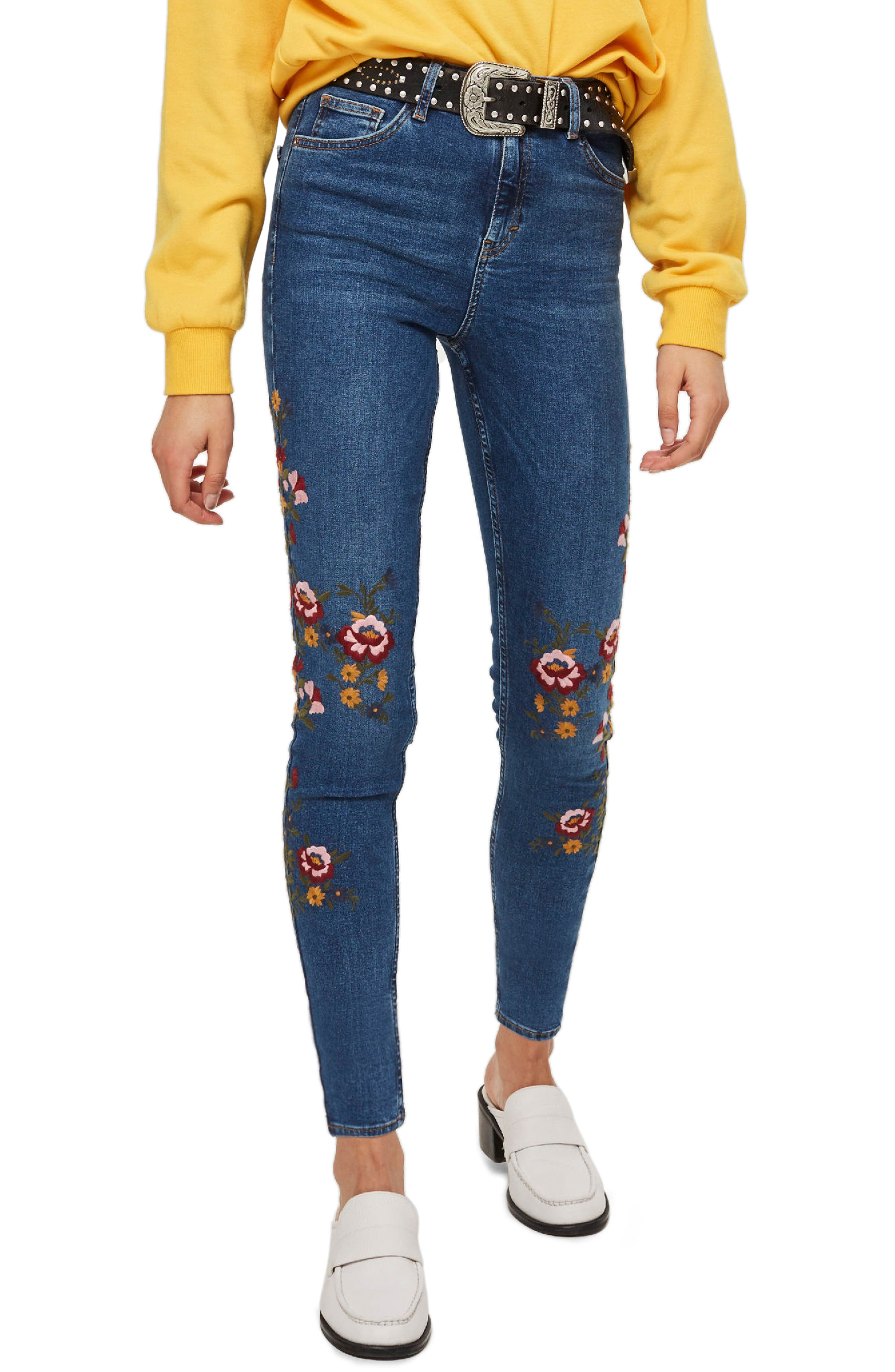 Jamie Ditsy Floral Jeans,                         Main,                         color, 420