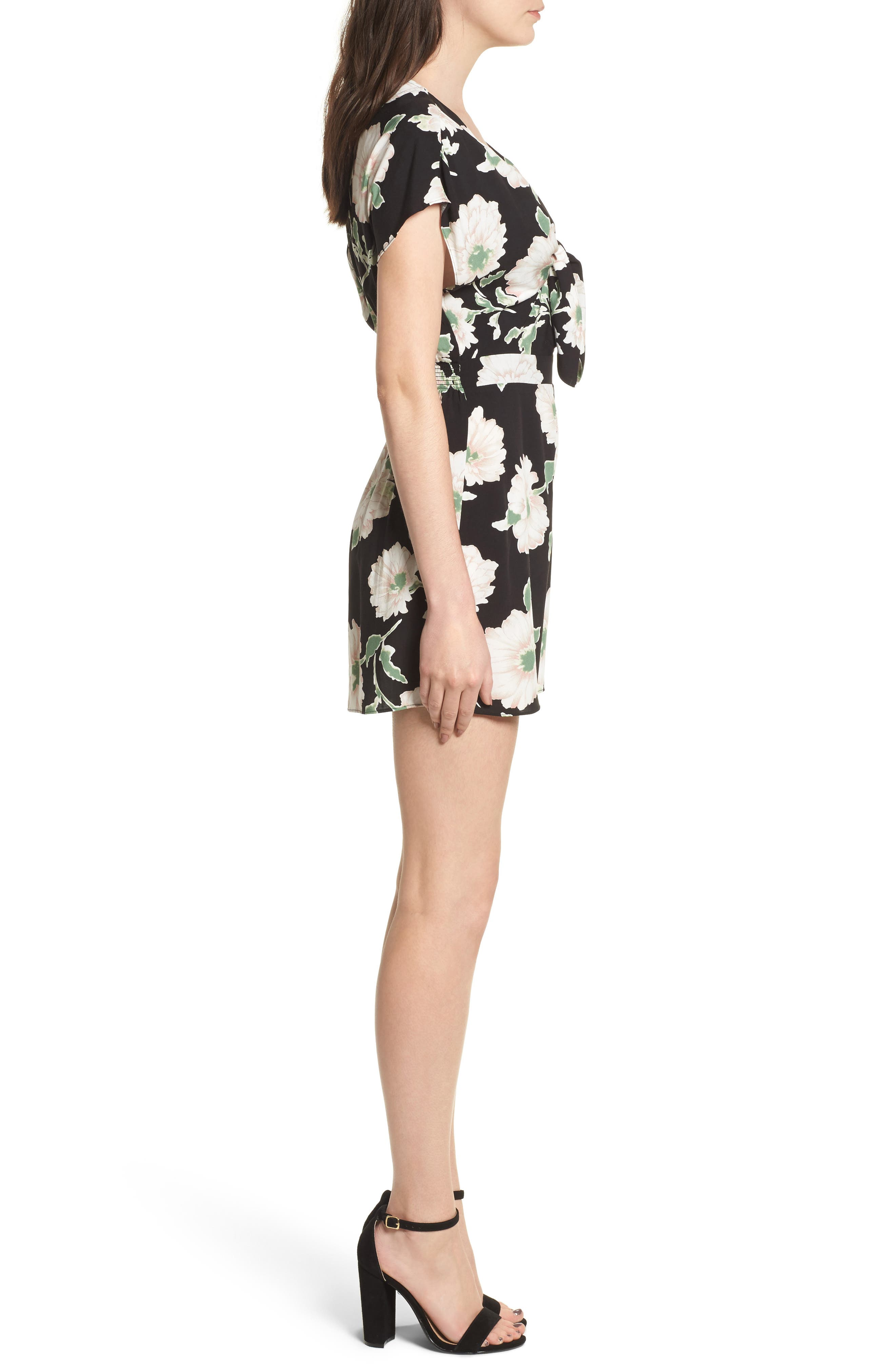 Knotted Romper,                             Alternate thumbnail 5, color,