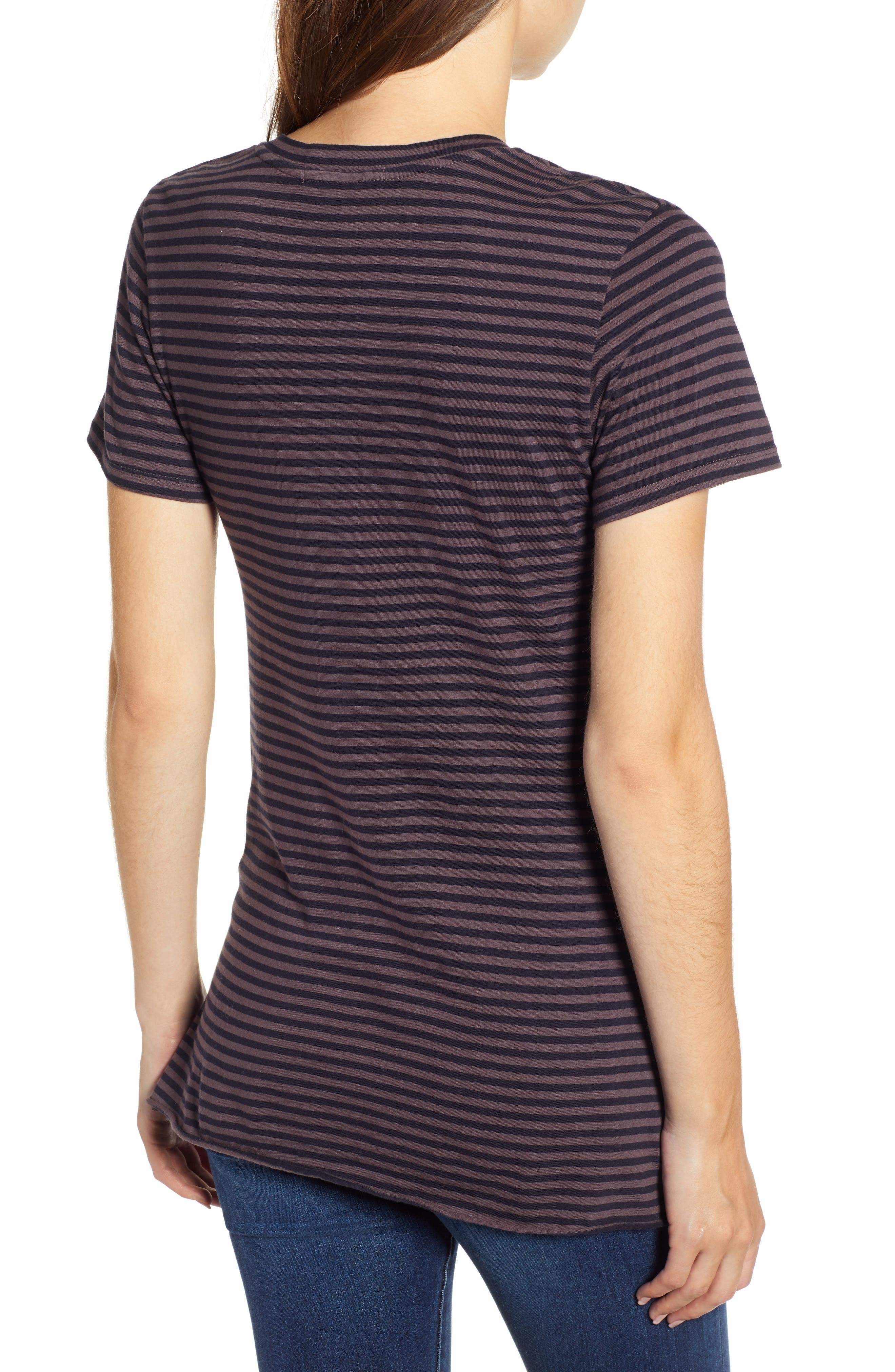 Stripe Twist Tee,                             Alternate thumbnail 2, color,                             TAUPE