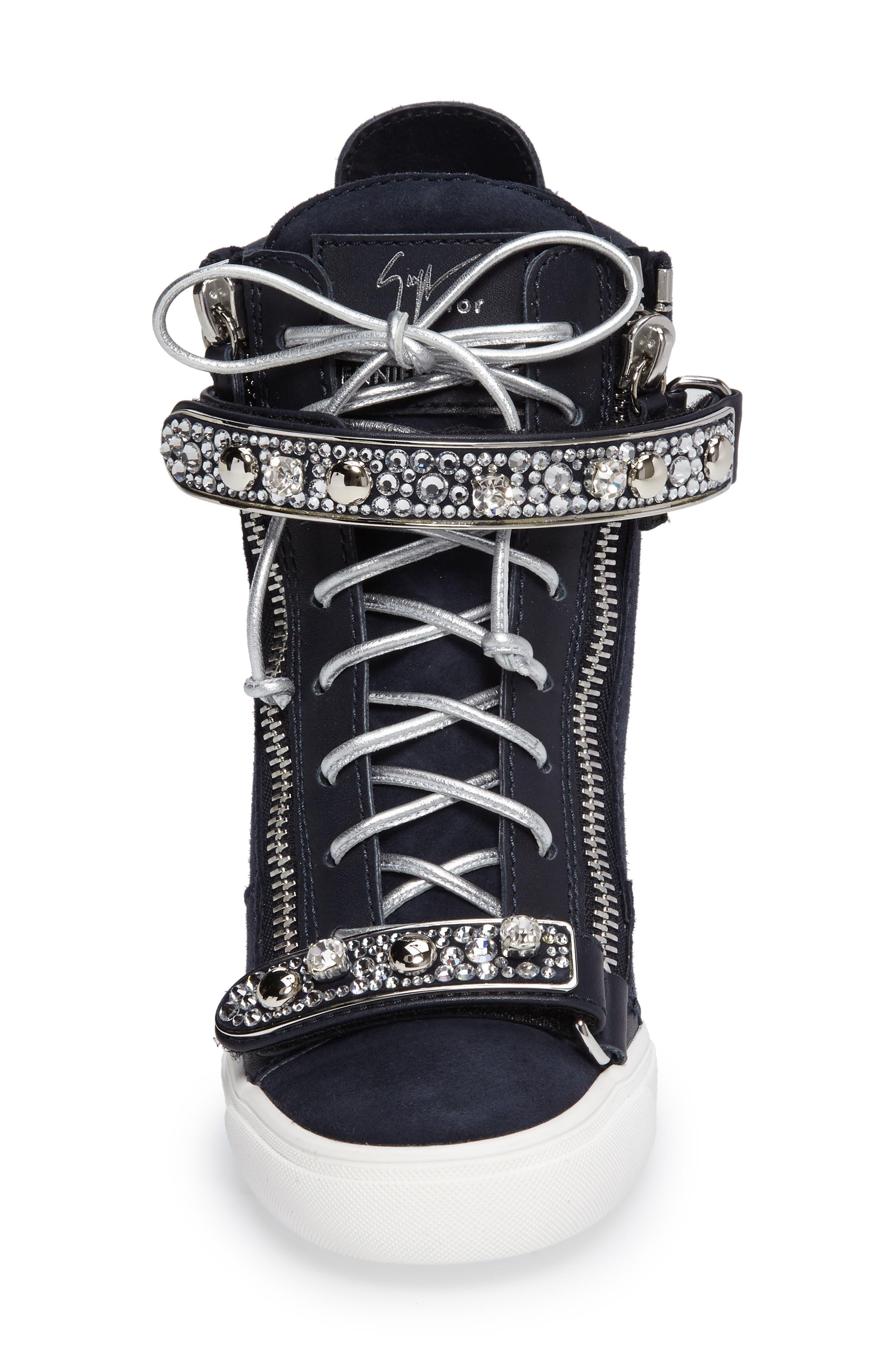 Giuseppe for Jennifer Lopez Tiana Hidden Wedge Sneaker,                             Alternate thumbnail 8, color,