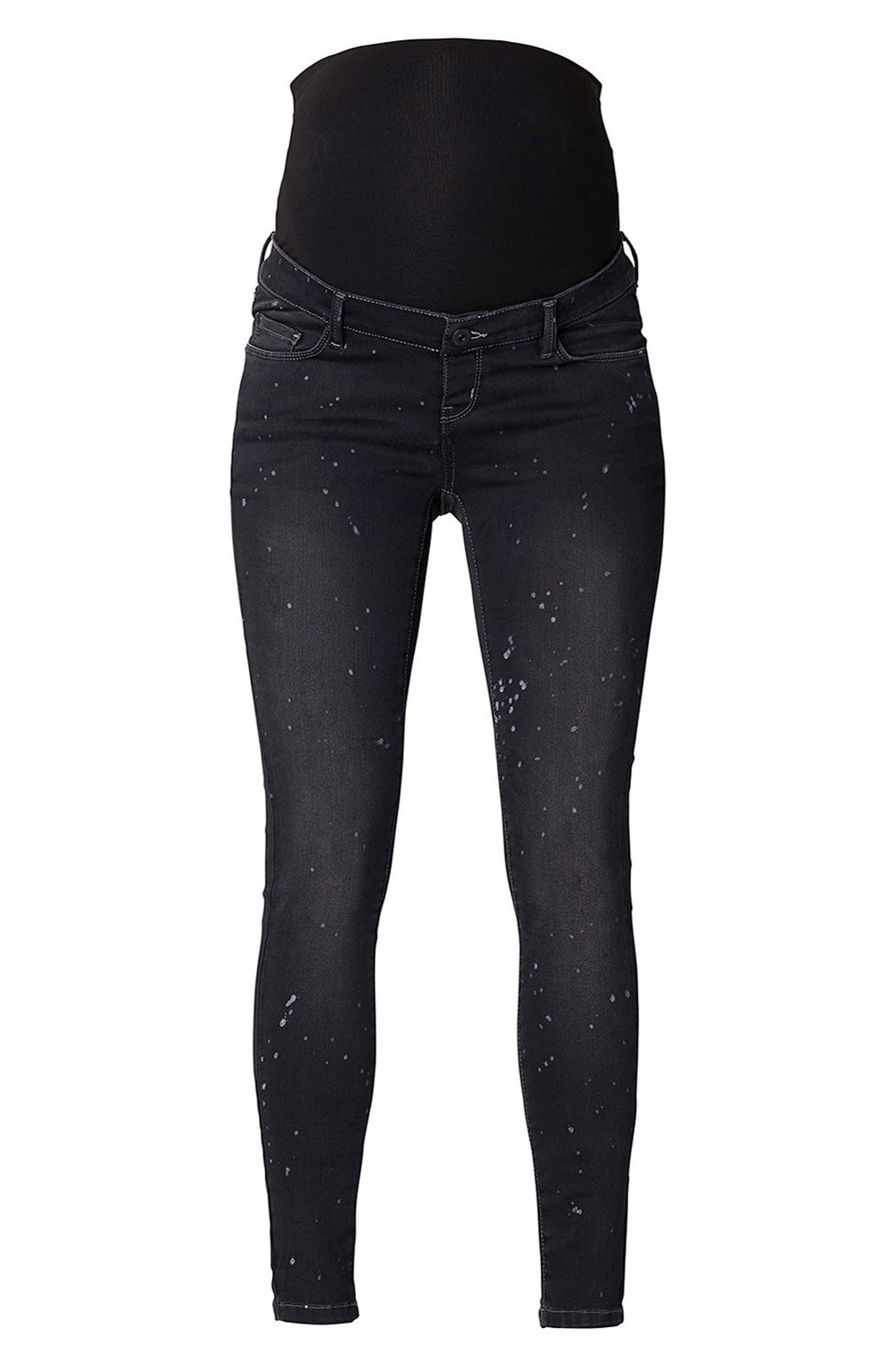Over the Belly Skinny Maternity Jeans,                         Main,                         color, GREY DENIM