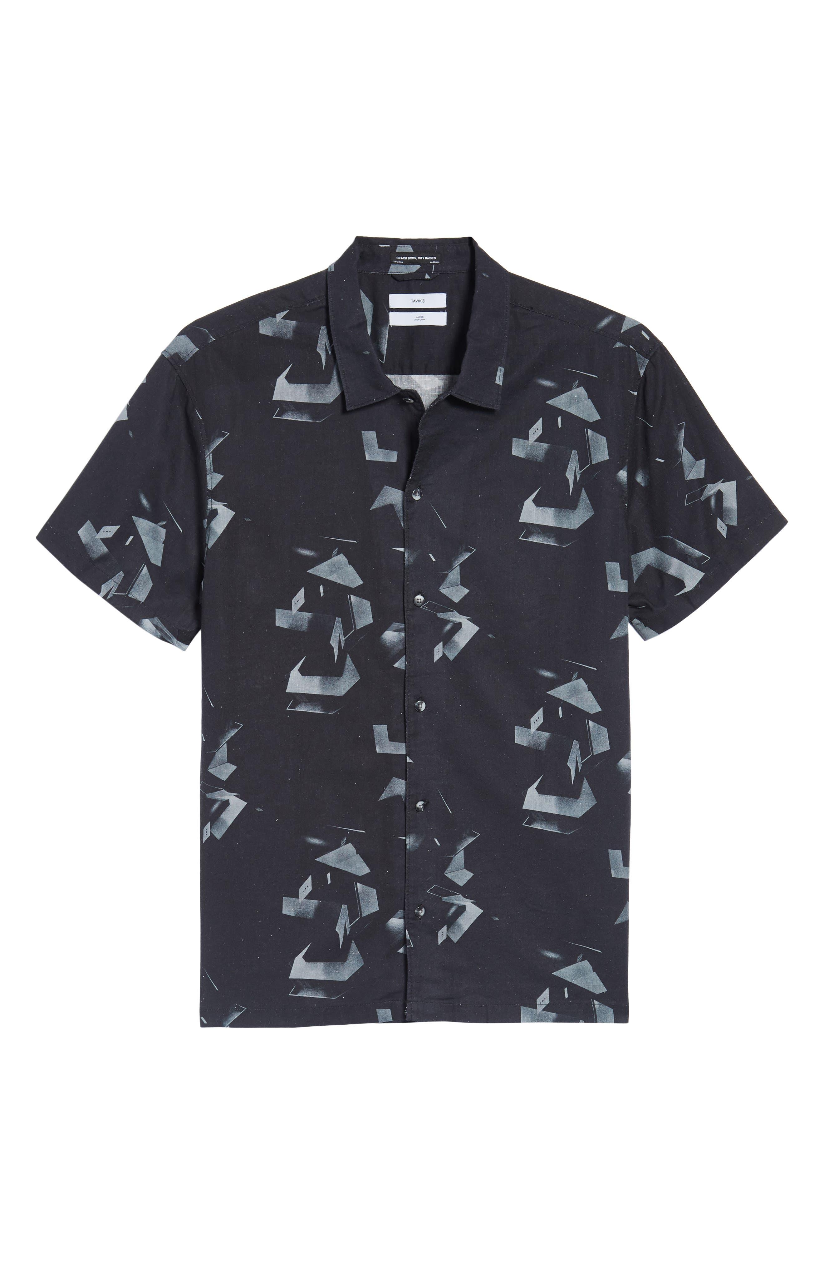 Shoto Short Sleeve Shirt,                             Alternate thumbnail 6, color,                             001