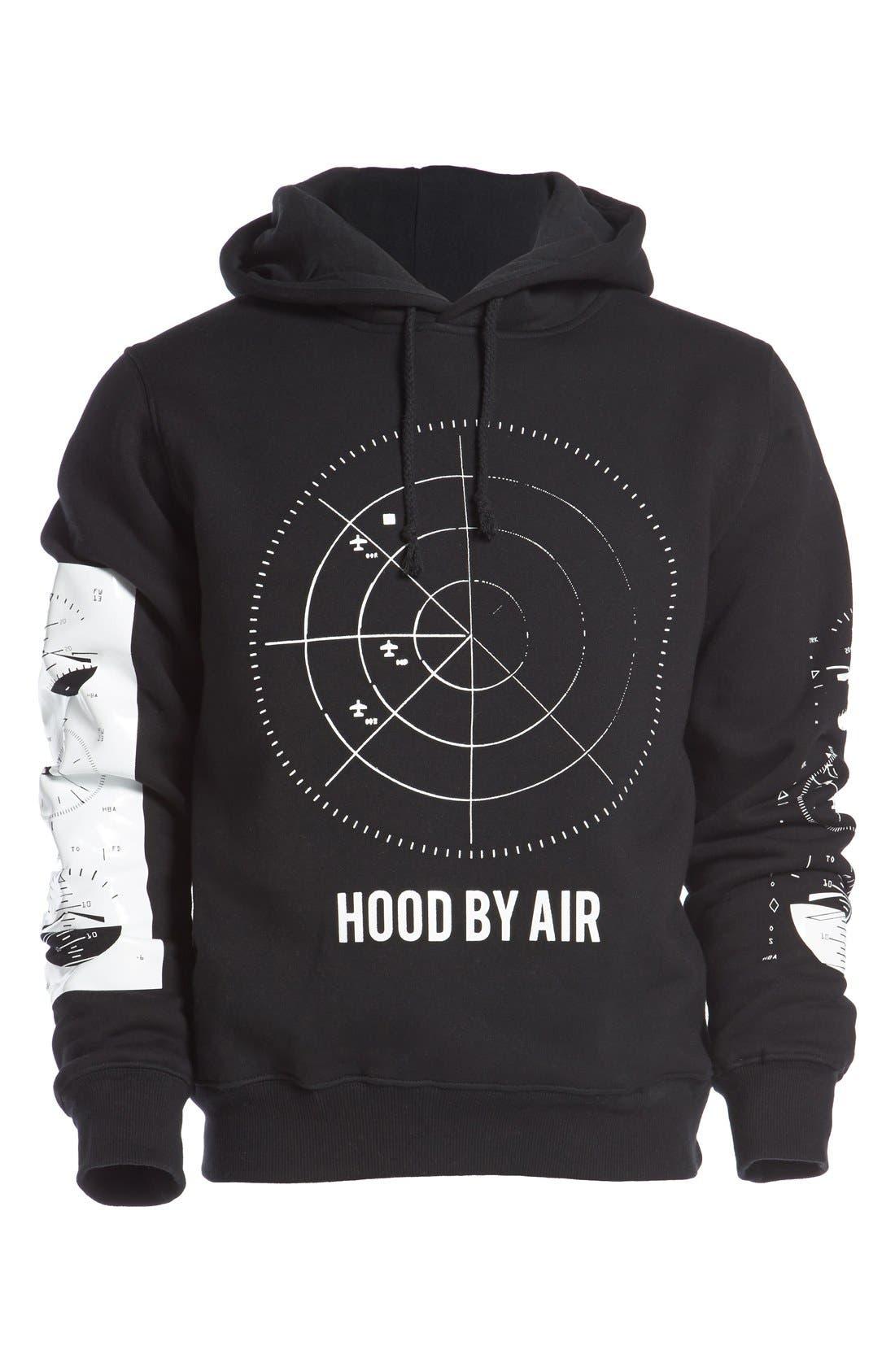 VFILES,                             'Hood By Air - Radar' Hoodie,                             Alternate thumbnail 3, color,                             001