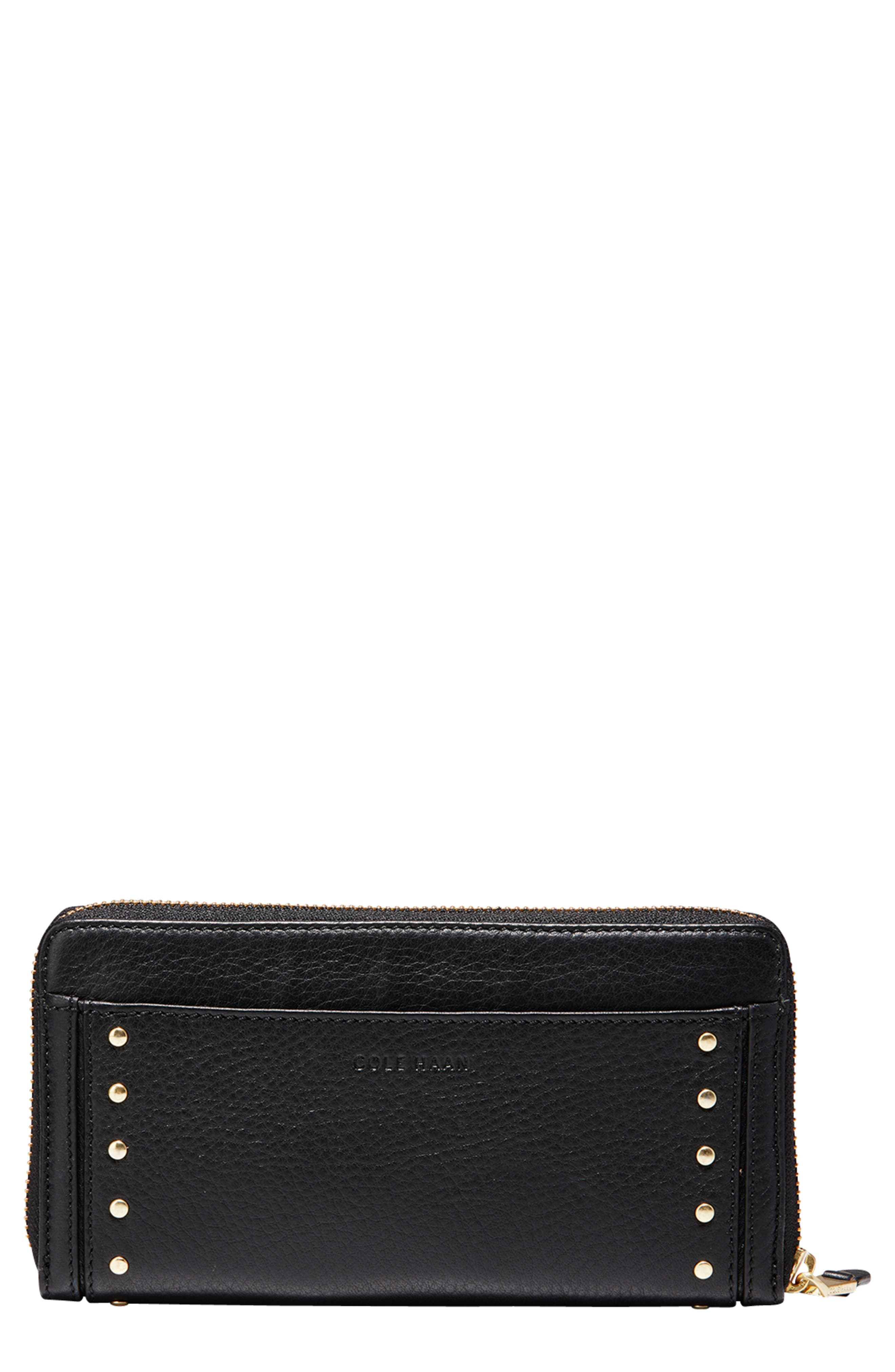 Cassidy Leather RFID Continental Zip Wallet,                         Main,                         color, 001
