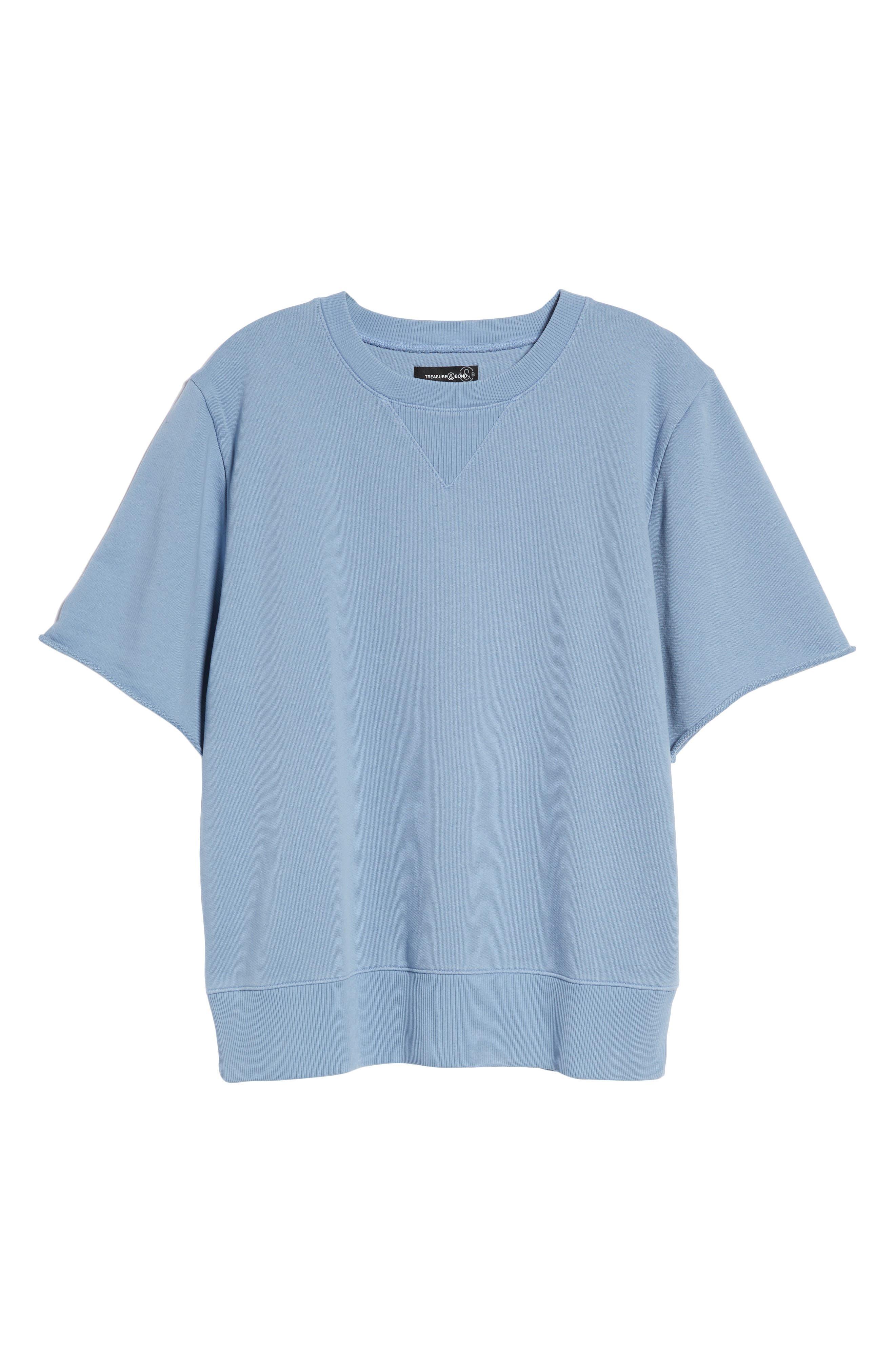 Cotton Terry Sweatshirt,                             Alternate thumbnail 11, color,