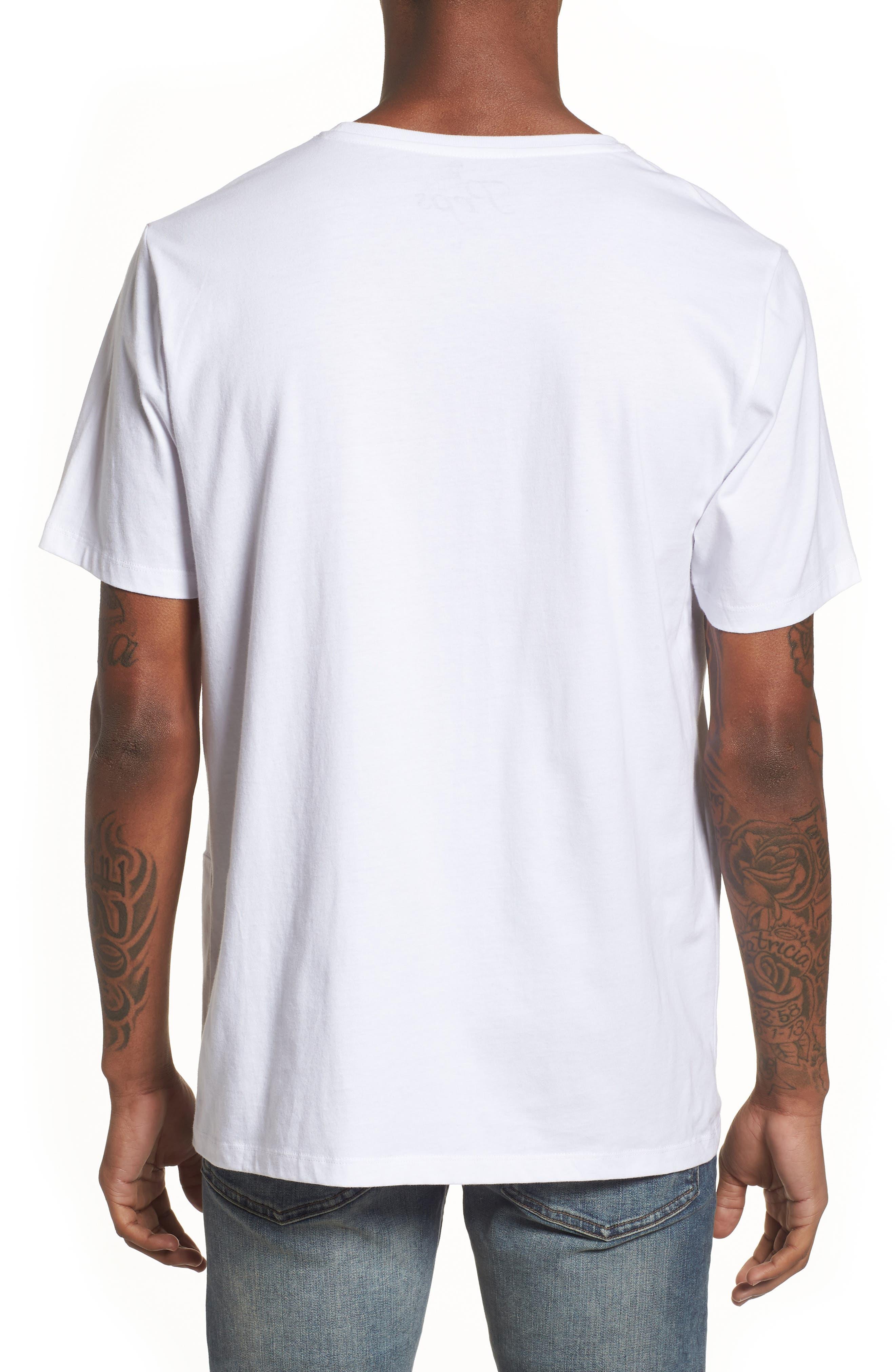 Paneled Graphic T-Shirt,                             Alternate thumbnail 2, color,                             100