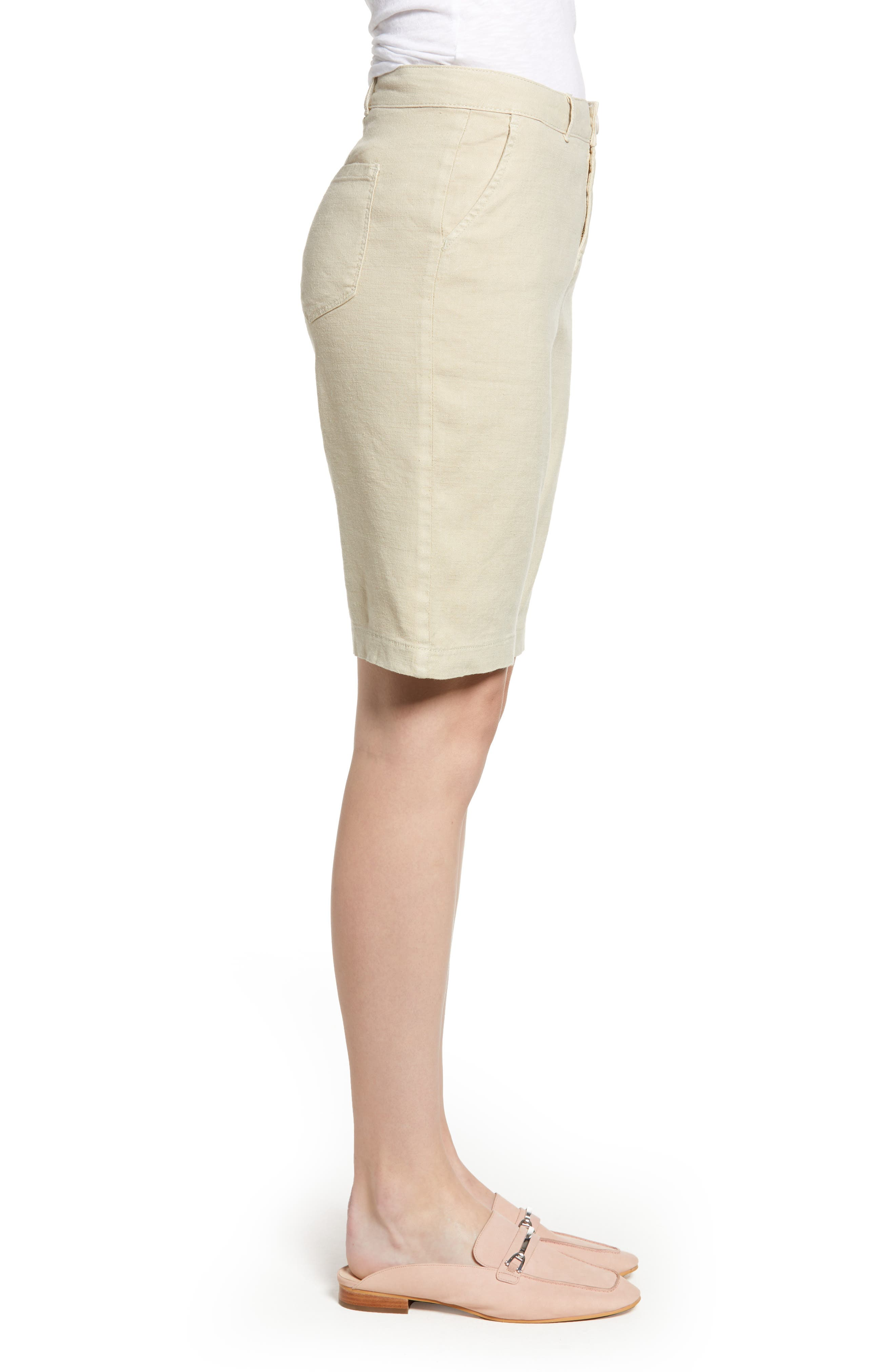 Stretch Linen Blend Bermuda Shorts,                             Alternate thumbnail 8, color,