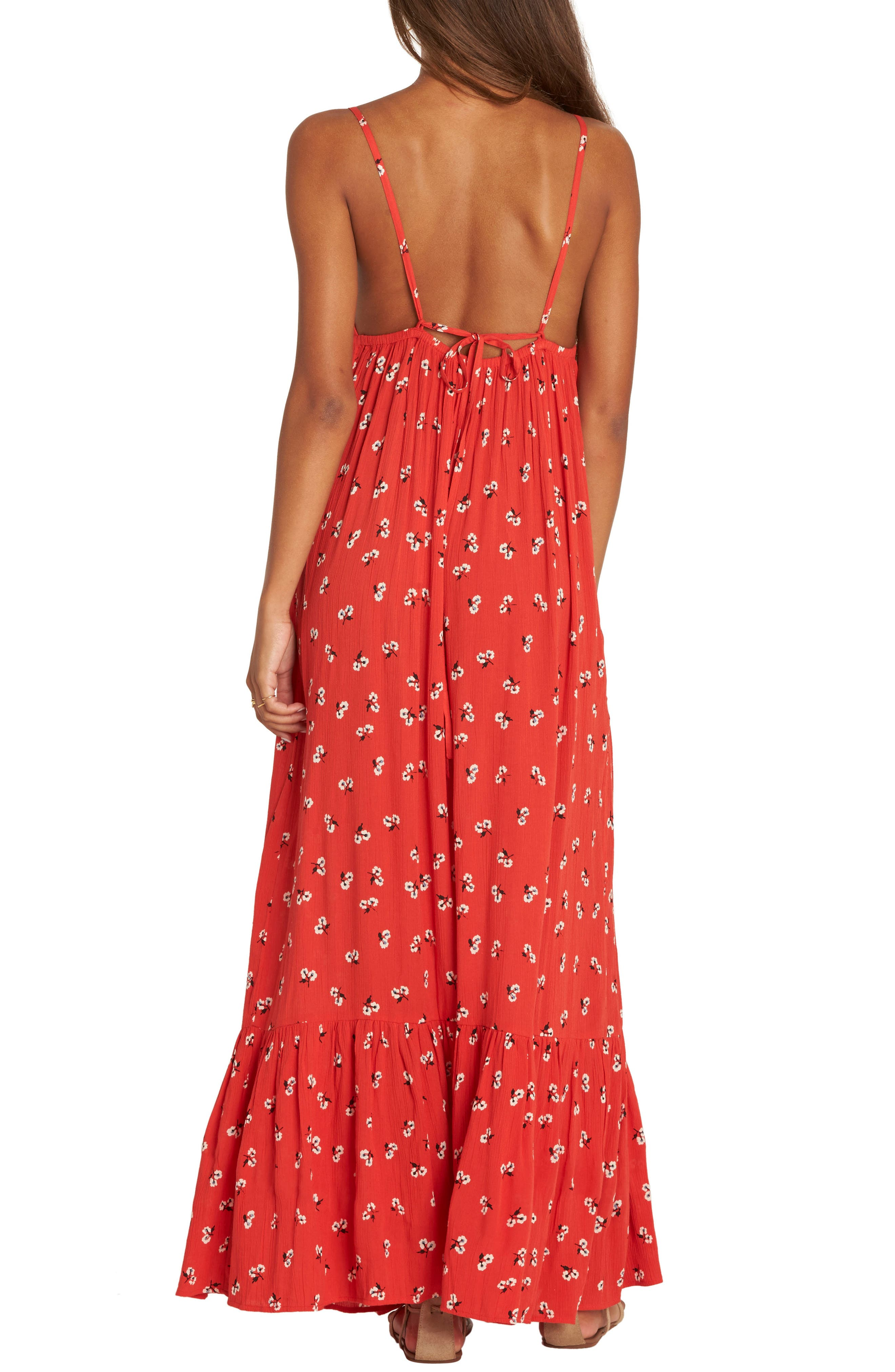 Flamed Out Print Maxi Dress,                             Alternate thumbnail 2, color,                             612