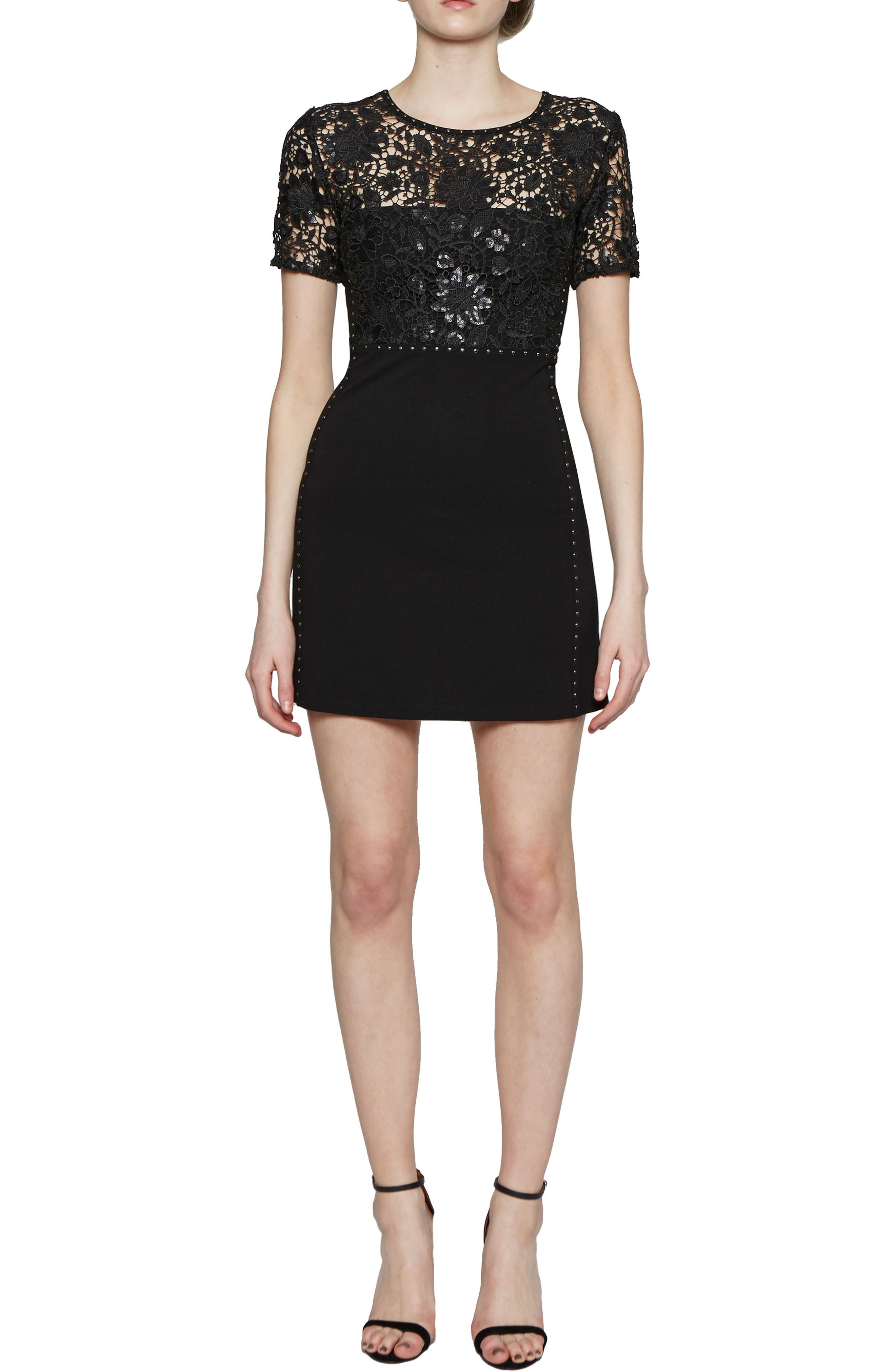 Clementine Sequin Sheath Dress,                             Alternate thumbnail 4, color,