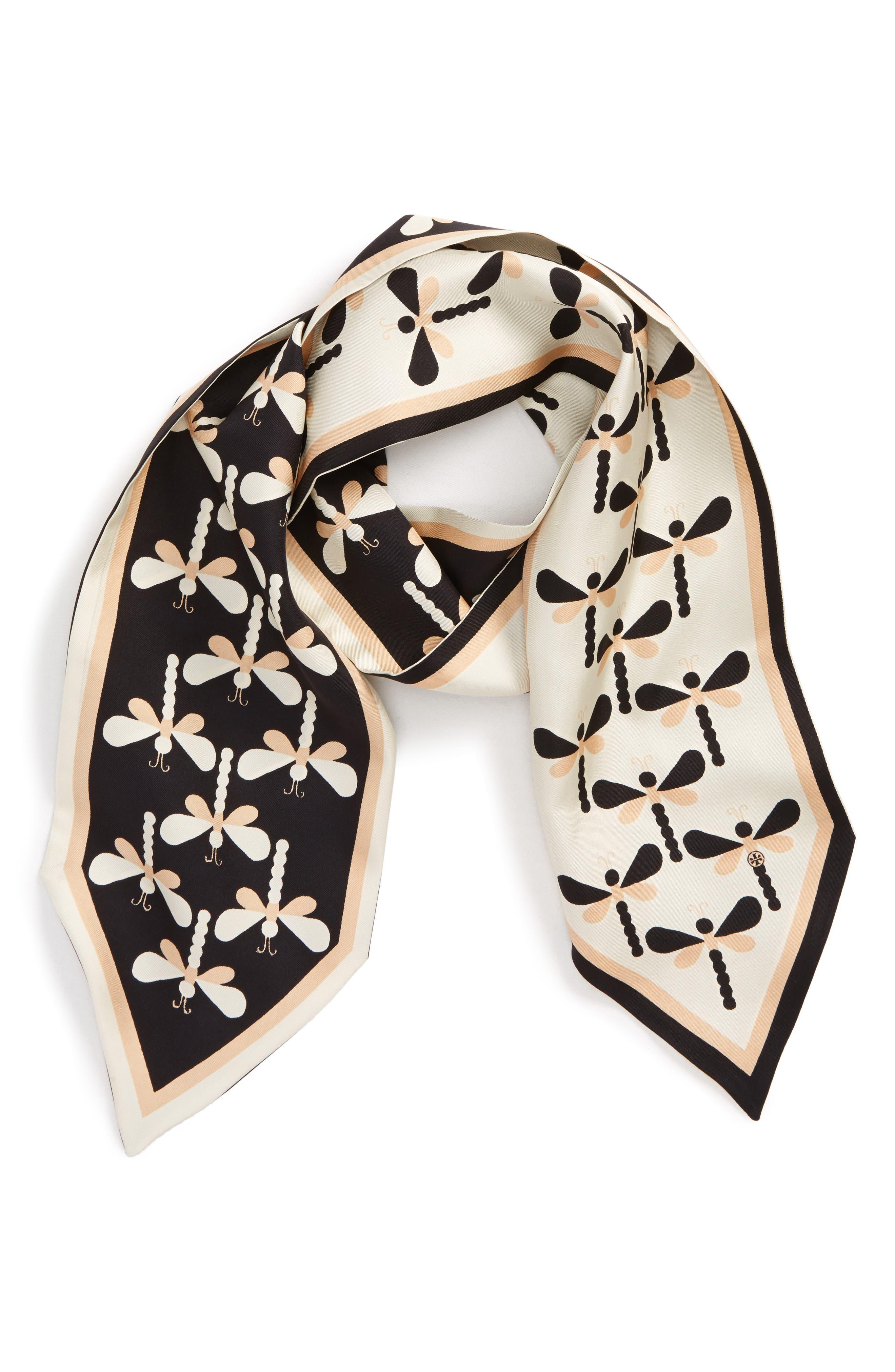 Dragonfly Silk Necktie,                         Main,                         color,