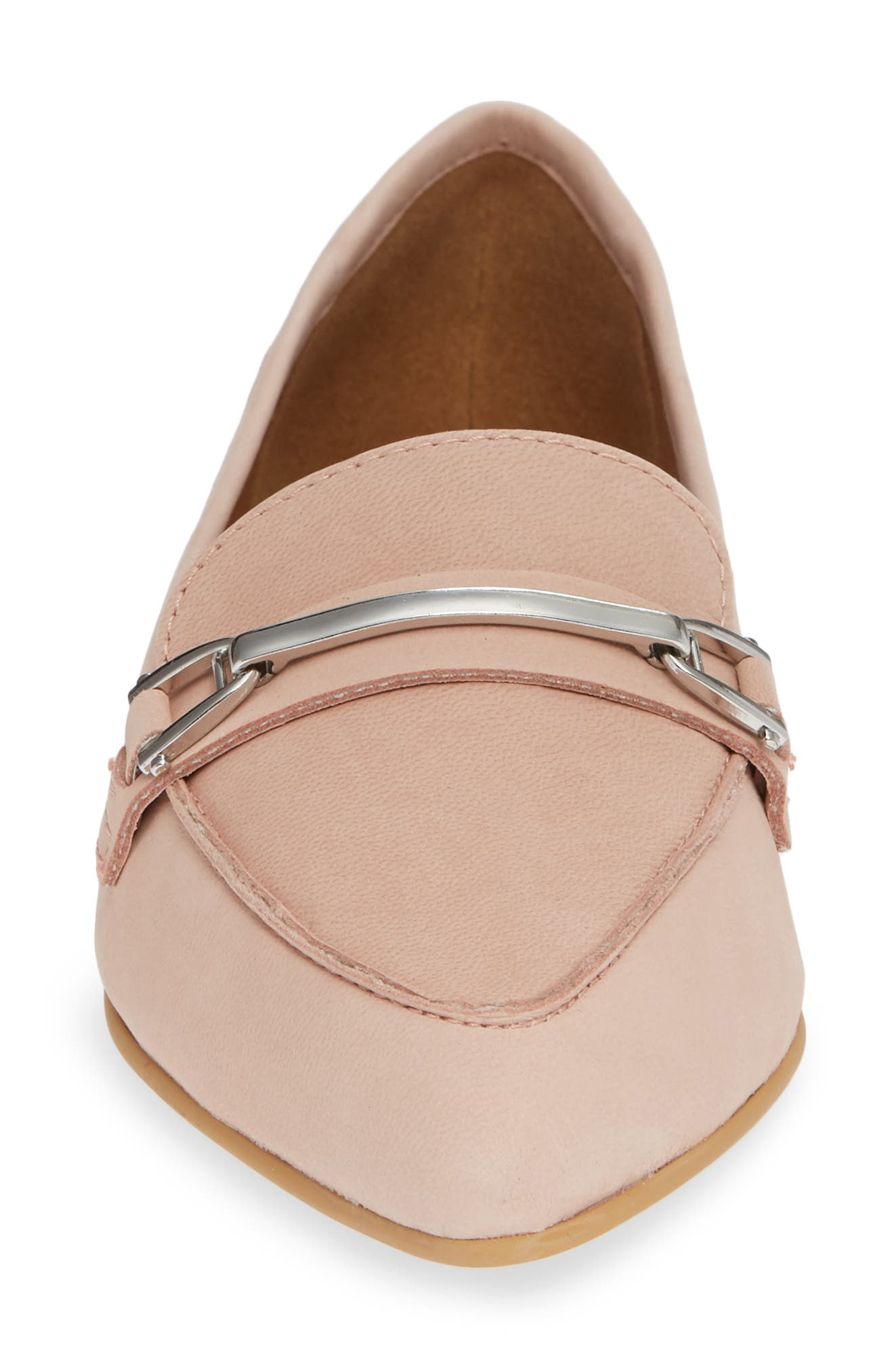 Kelin Flat,                             Alternate thumbnail 4, color,                             BLUSH LEATHER