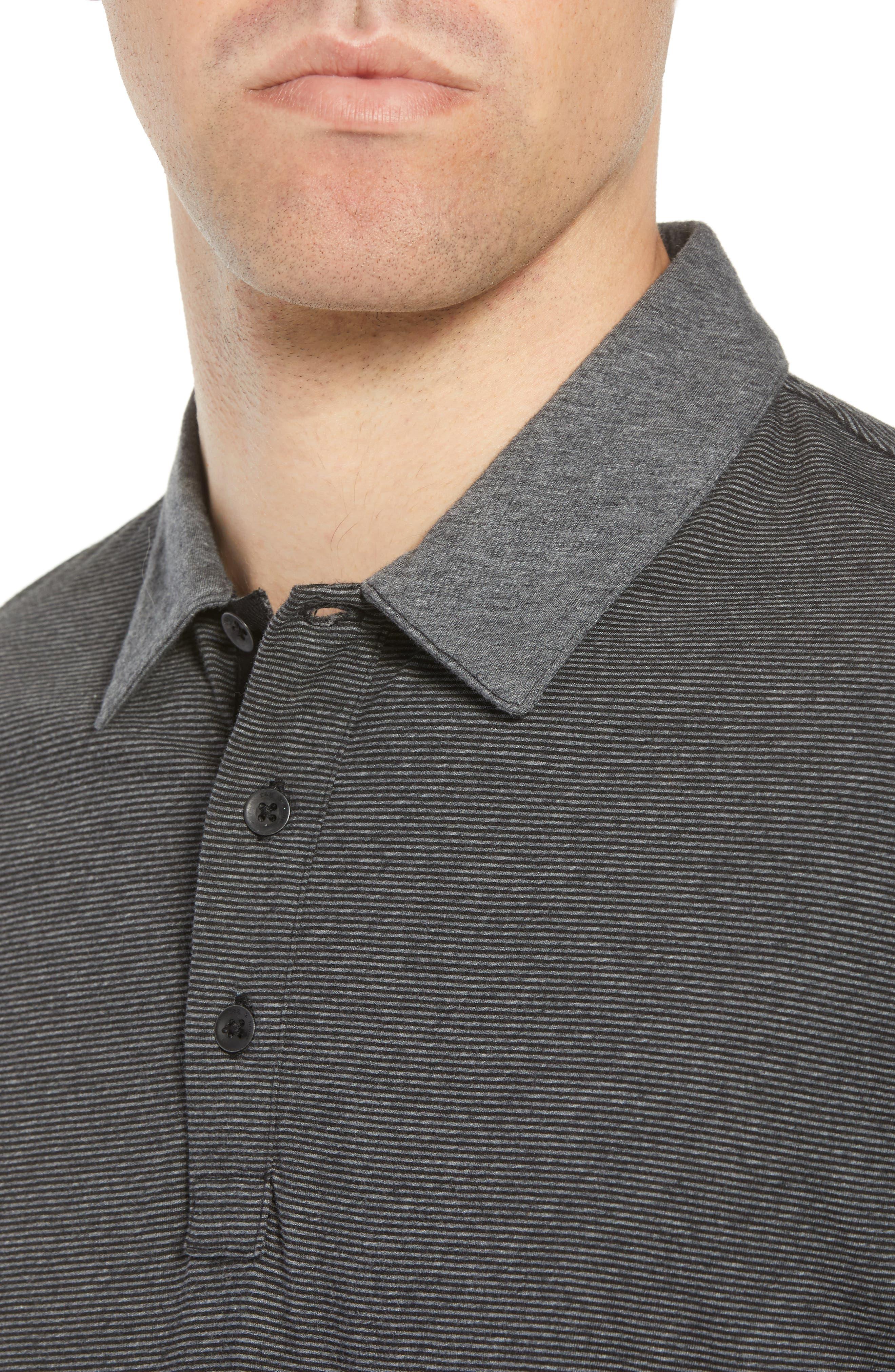 Stripe Cotton Polo Shirt,                             Alternate thumbnail 4, color,                             010