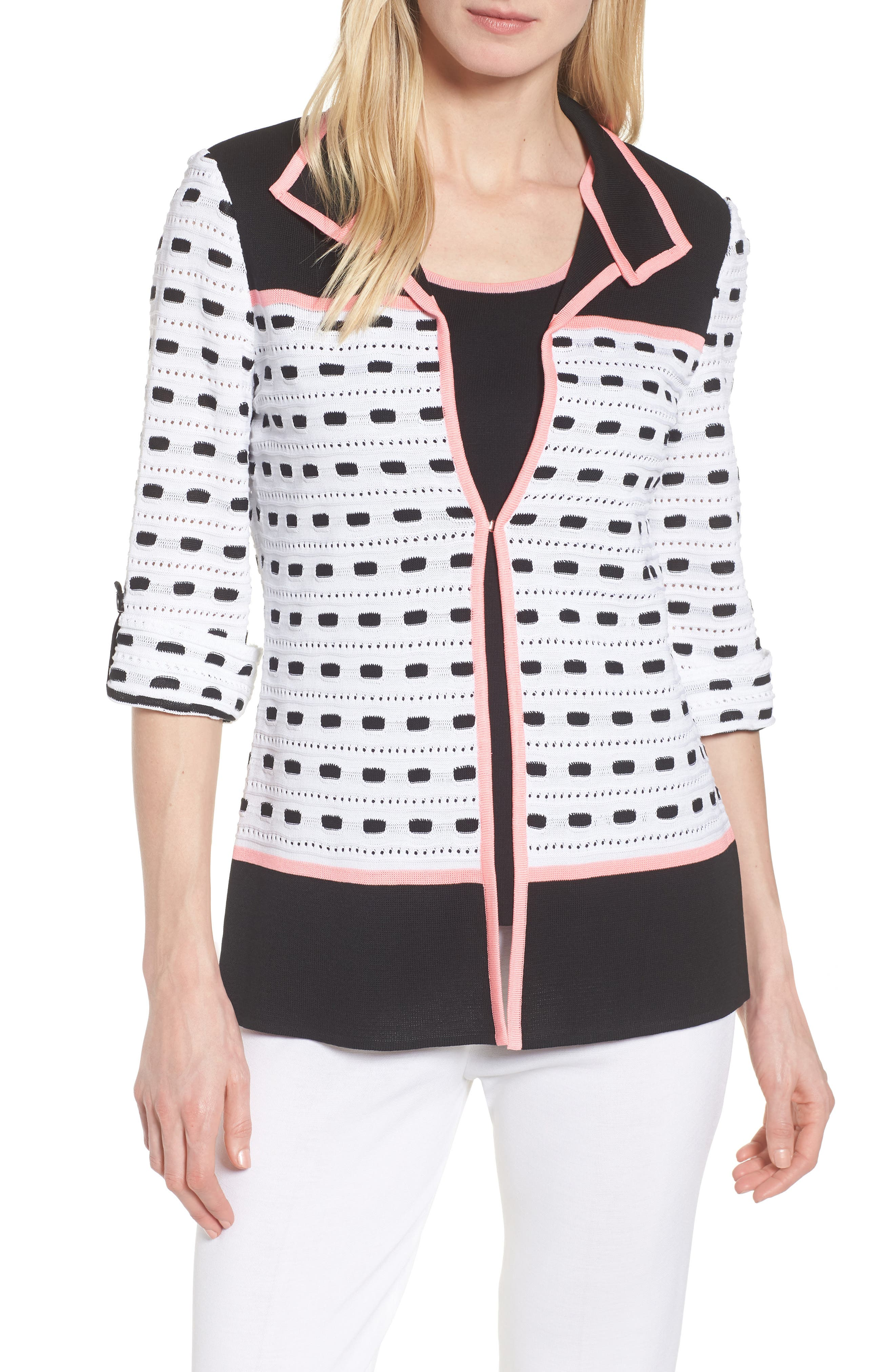 Textured Colorblock Check Jacket,                         Main,                         color, 104