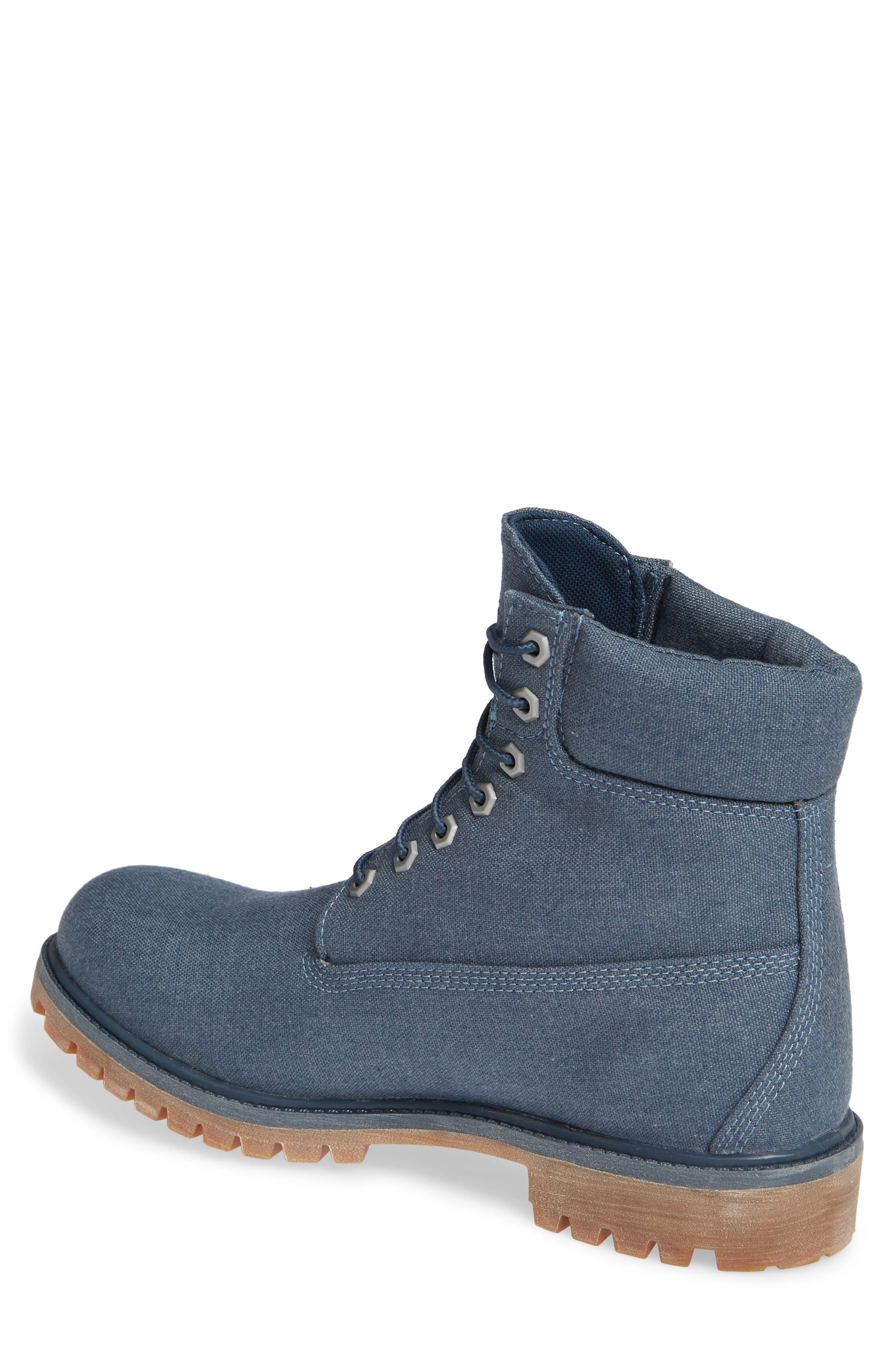 Premium Plain Toe Boot,                             Alternate thumbnail 2, color,                             MIDNIGHT NAVY THREAD