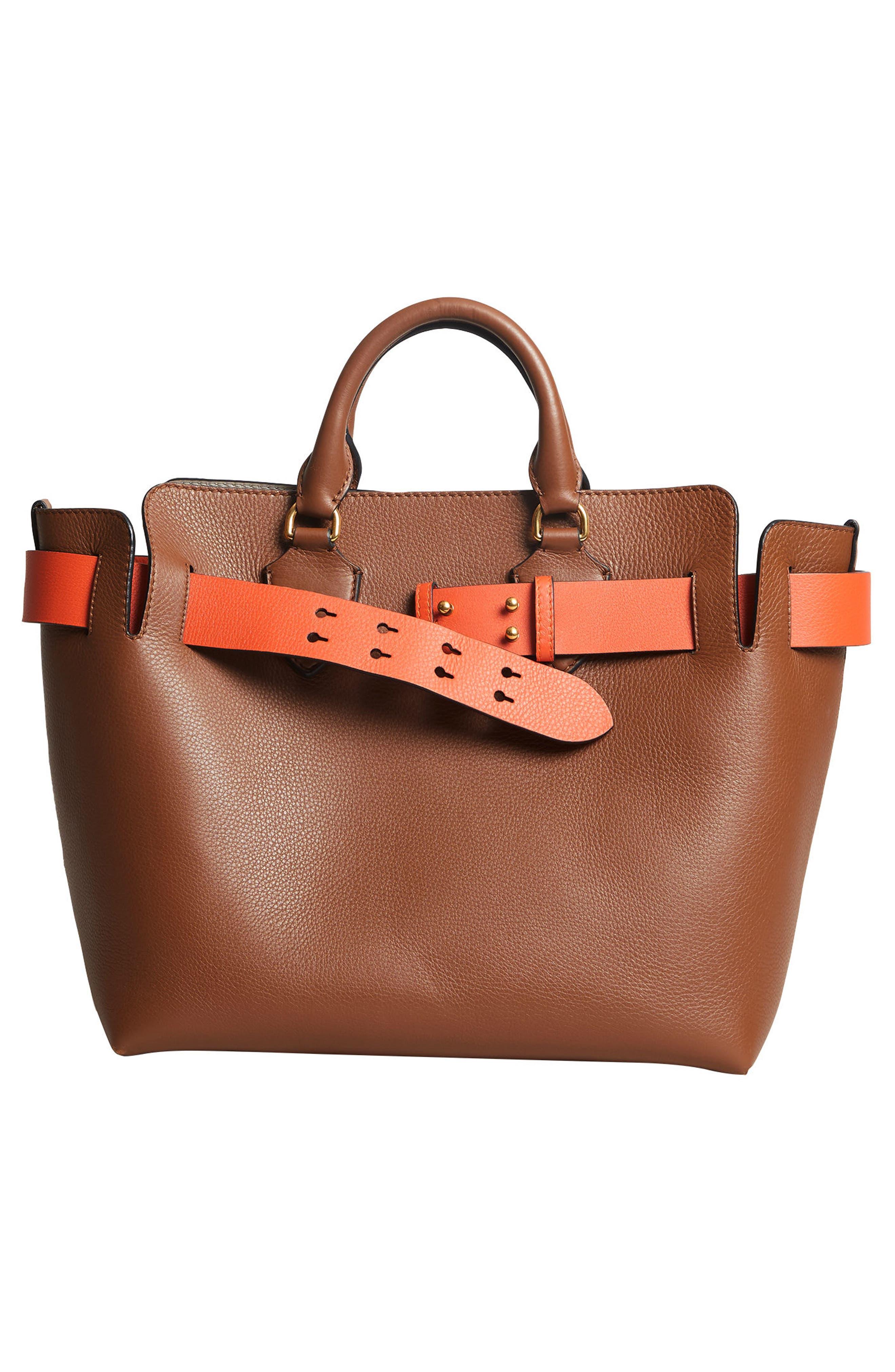 Medium Belt Bag Leather Tote,                             Alternate thumbnail 2, color,                             216