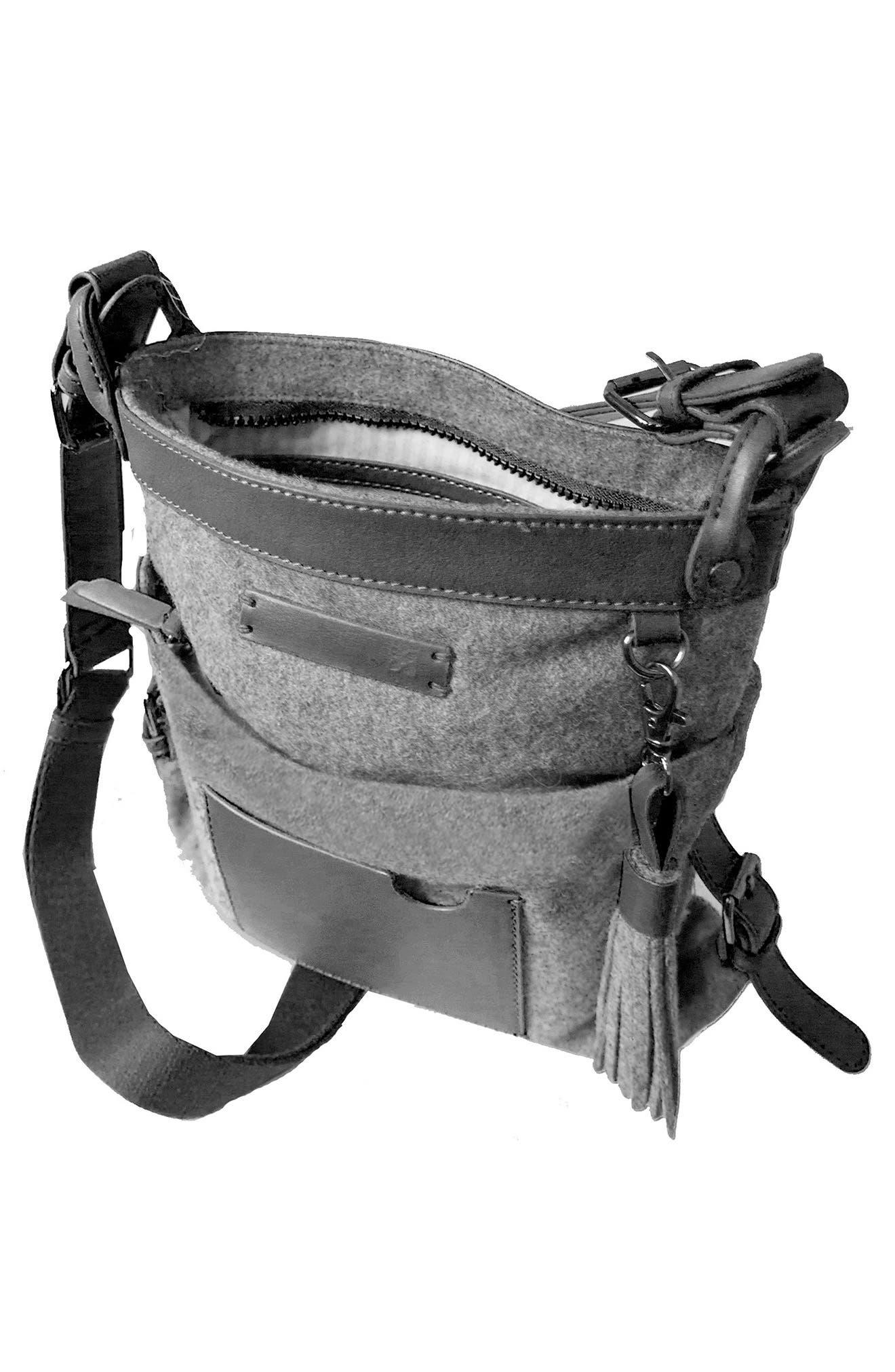 Luna Waxed Cotton Canvas Crossbody Bag,                             Alternate thumbnail 10, color,
