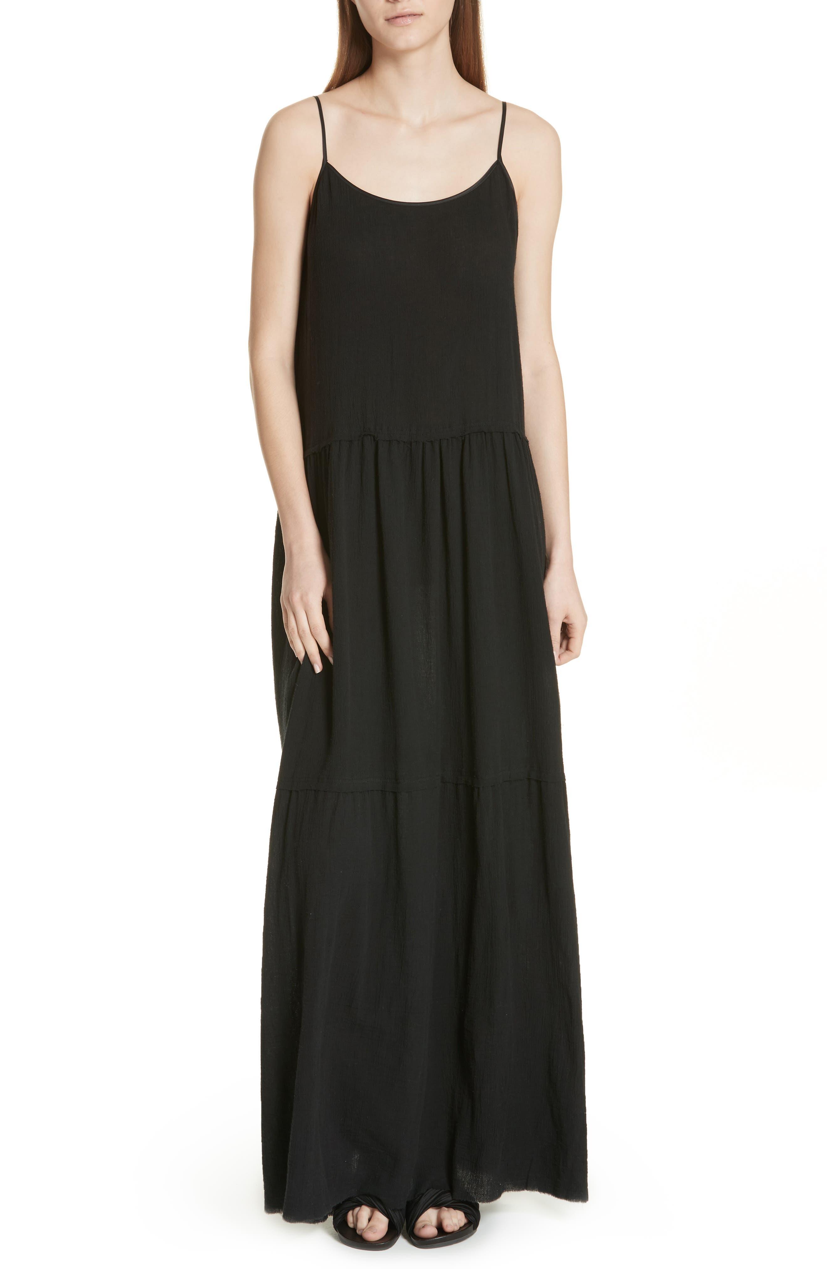 Tiered Maxi Dress,                             Main thumbnail 1, color,                             001