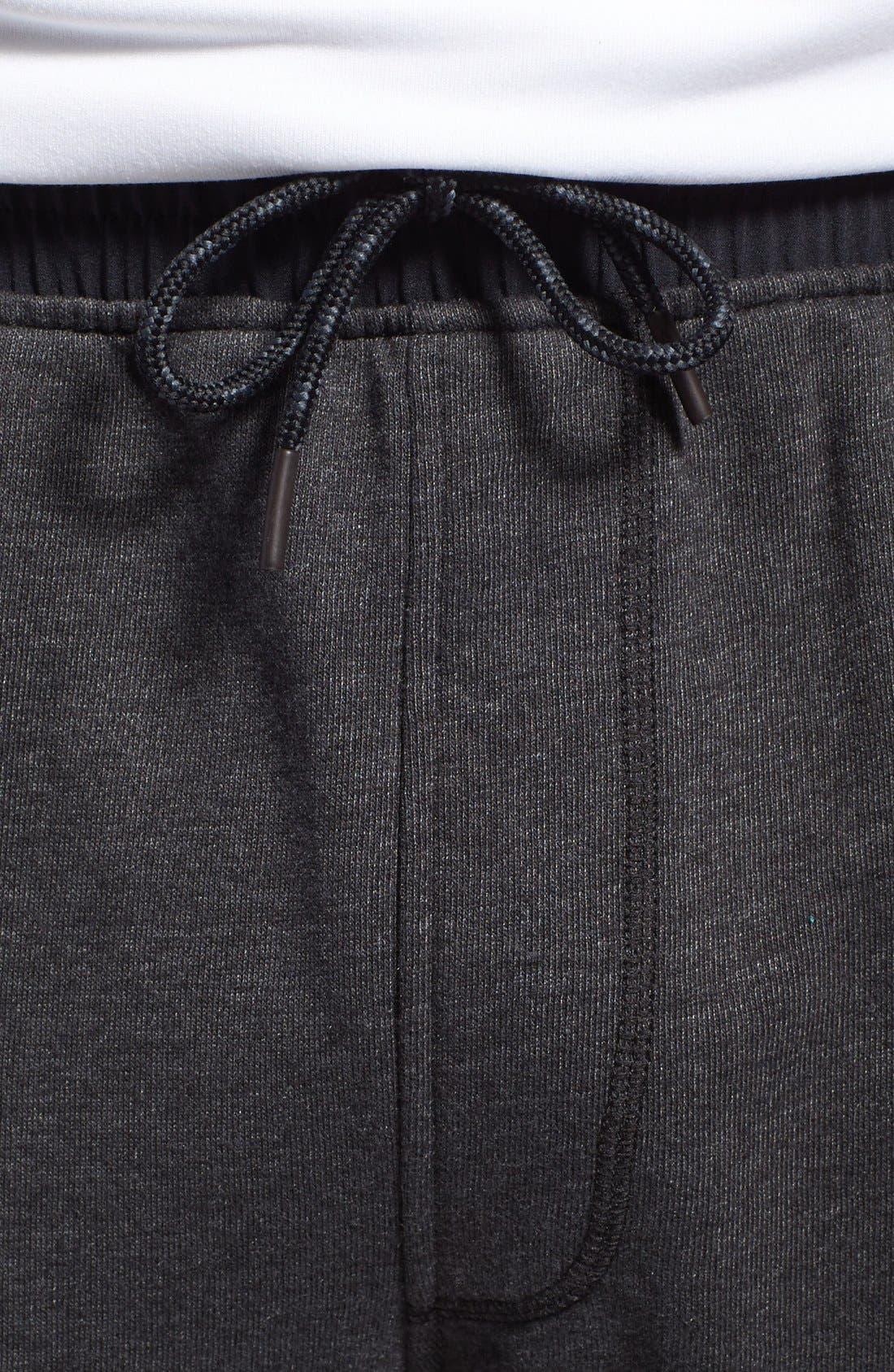 Cutoff Sweatpants,                             Alternate thumbnail 3, color,                             005