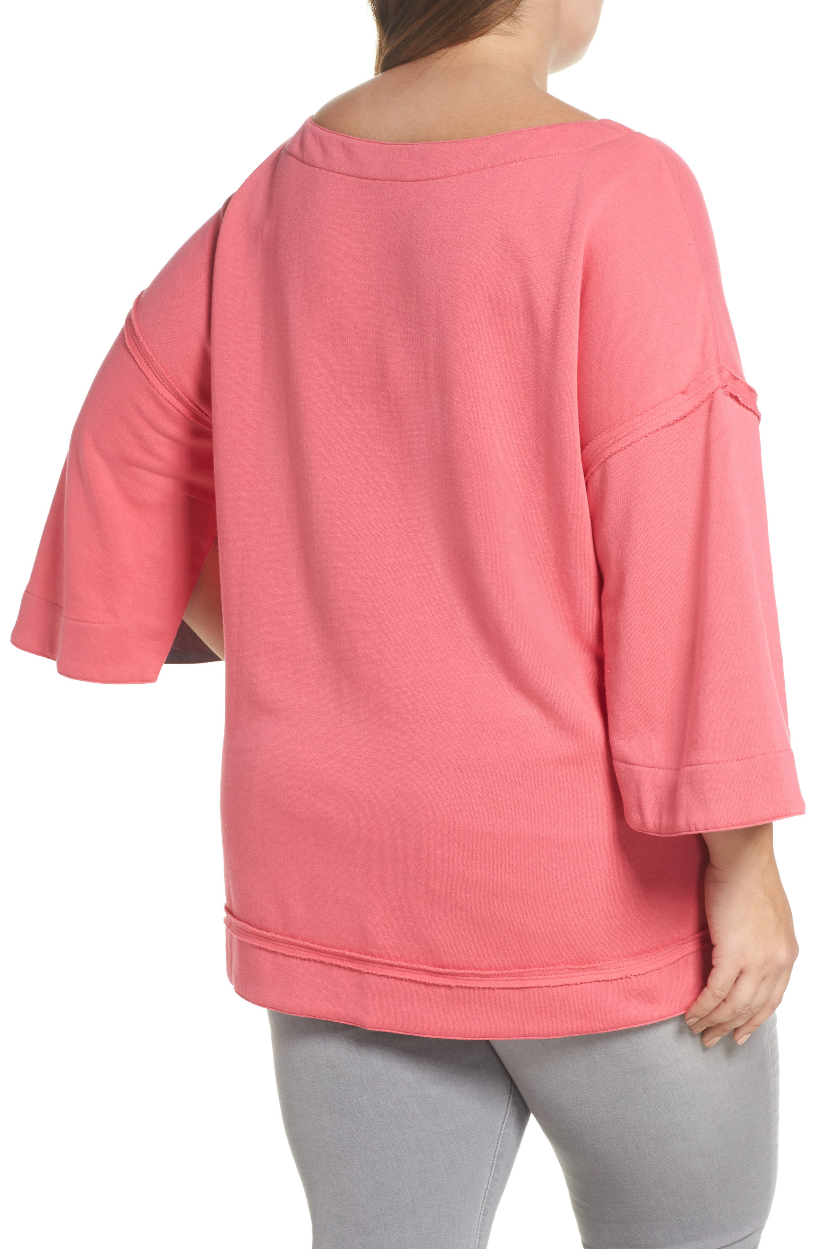 Split Sleeve Sweatshirt,                             Alternate thumbnail 7, color,