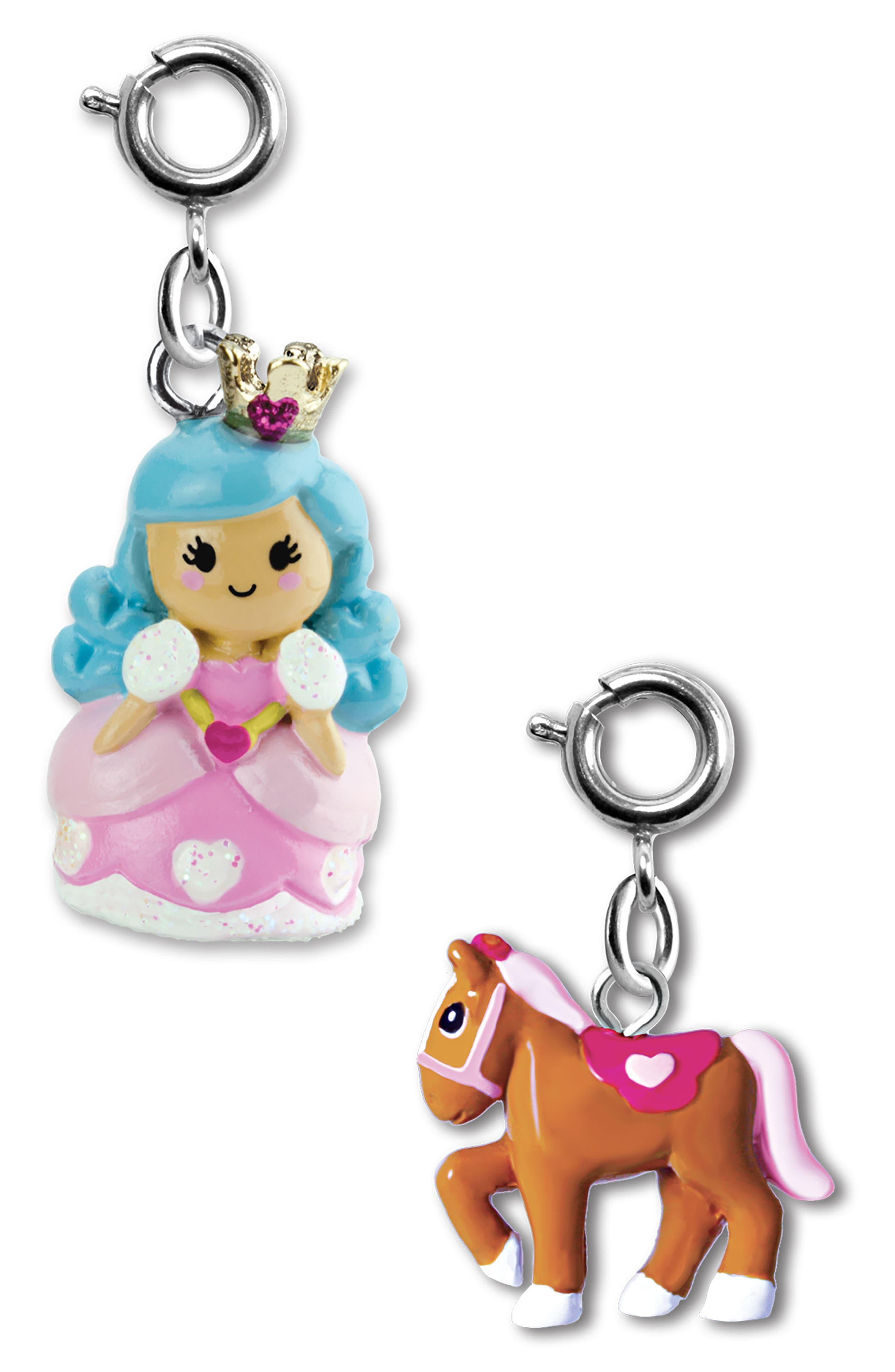 CHARM IT!<sup>®</sup> 2-Pack Princess & Pony Charms,                             Main thumbnail 1, color,                             MULTI