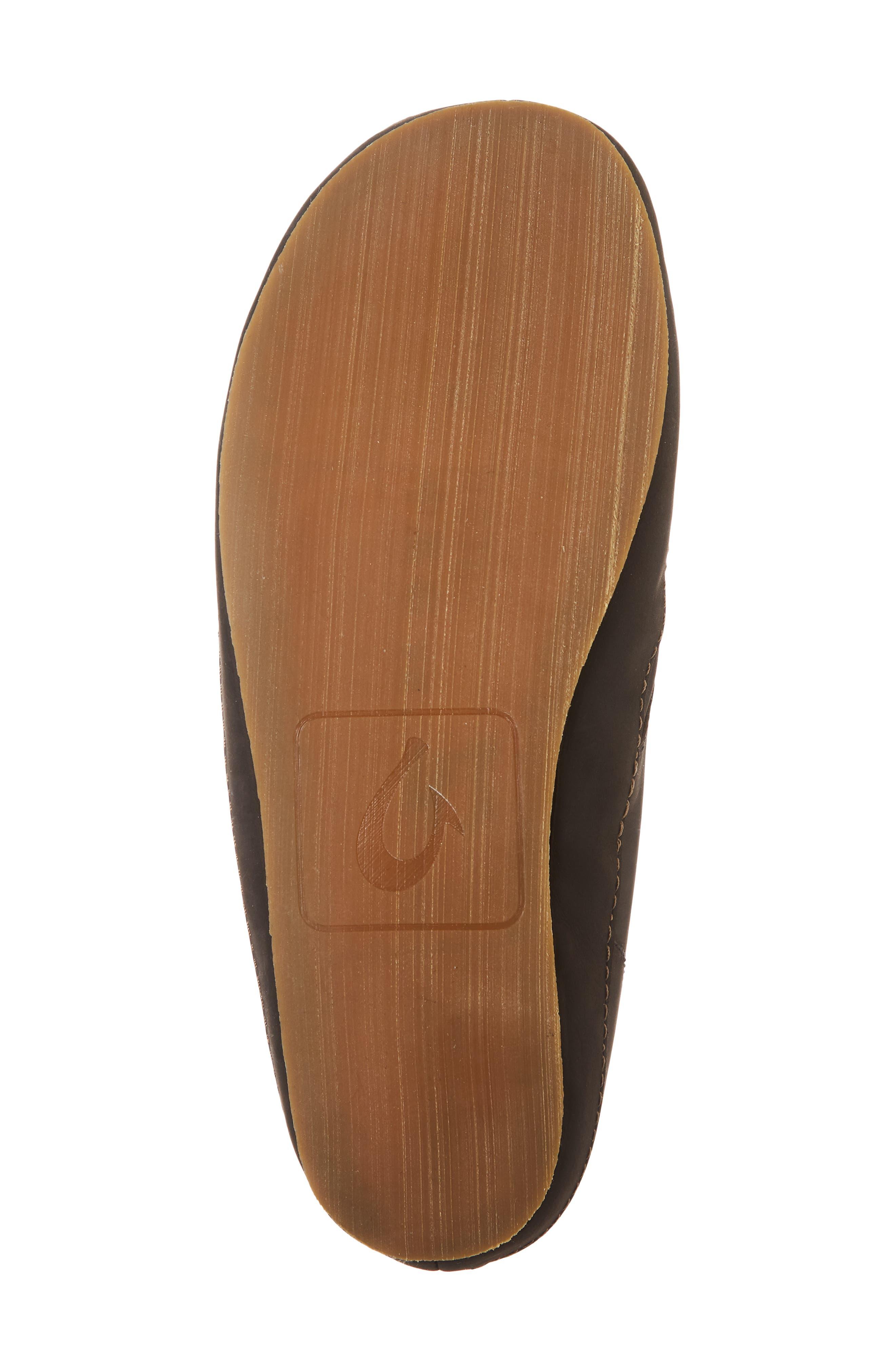 Moloa Genuine Shearling Slipper,                             Alternate thumbnail 6, color,                             DARK ROAST/ DARK ROAST LEATHER