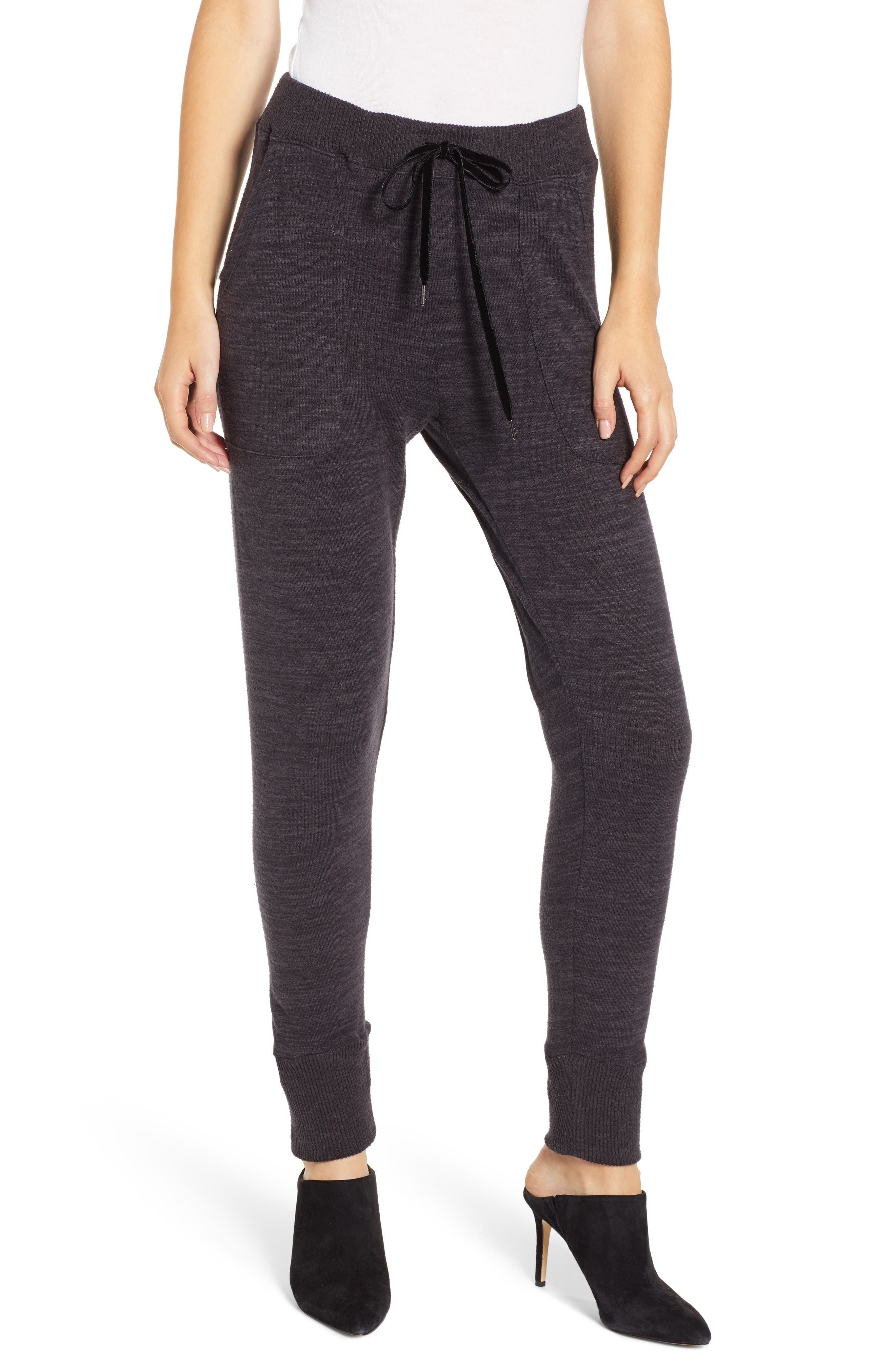 Devon Jogger Pants, Main, color, MELANGE BLACK